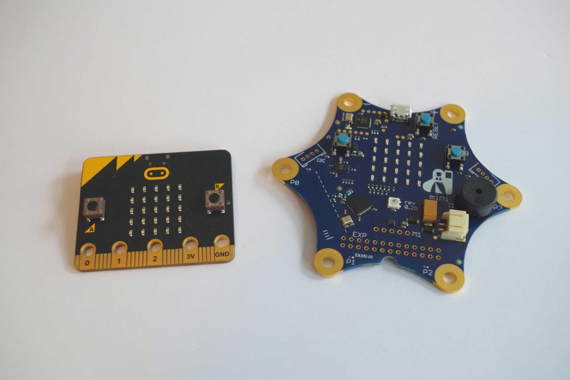 BBC MicroBit und Calliope im direkten Vergleich