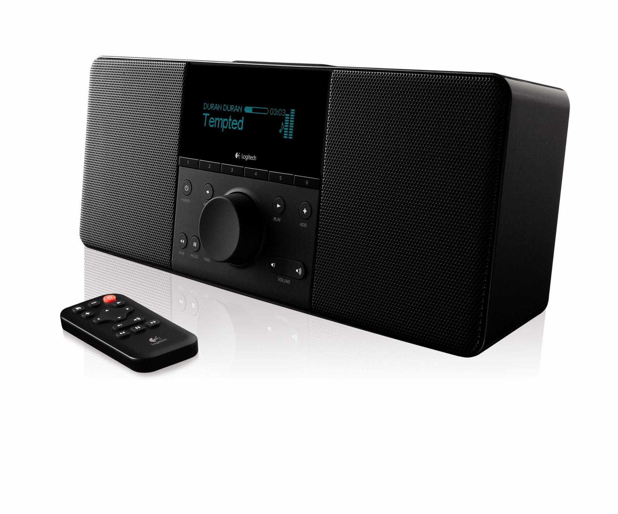 Der Boom gibt Musik und Internetradio per WLAN wieder.