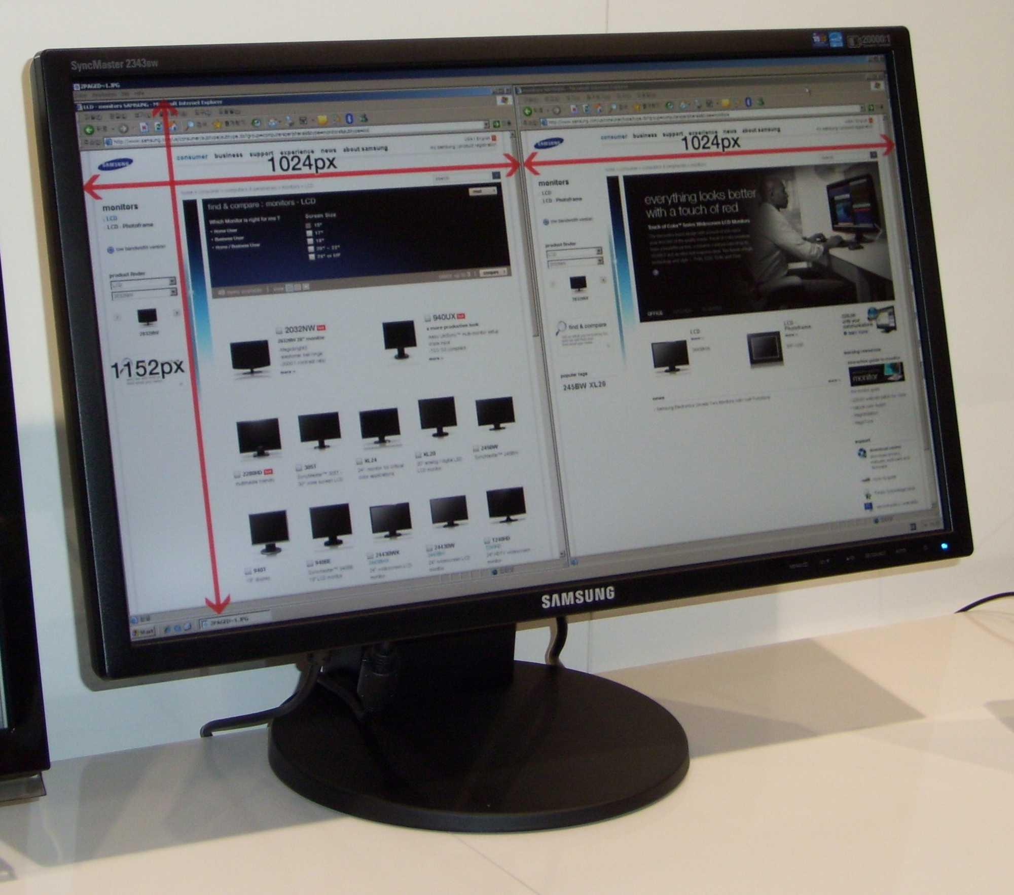 Der 16:9-Monitor von Samsung bringt es auf 2048 x 1152 Bildpunkte.
