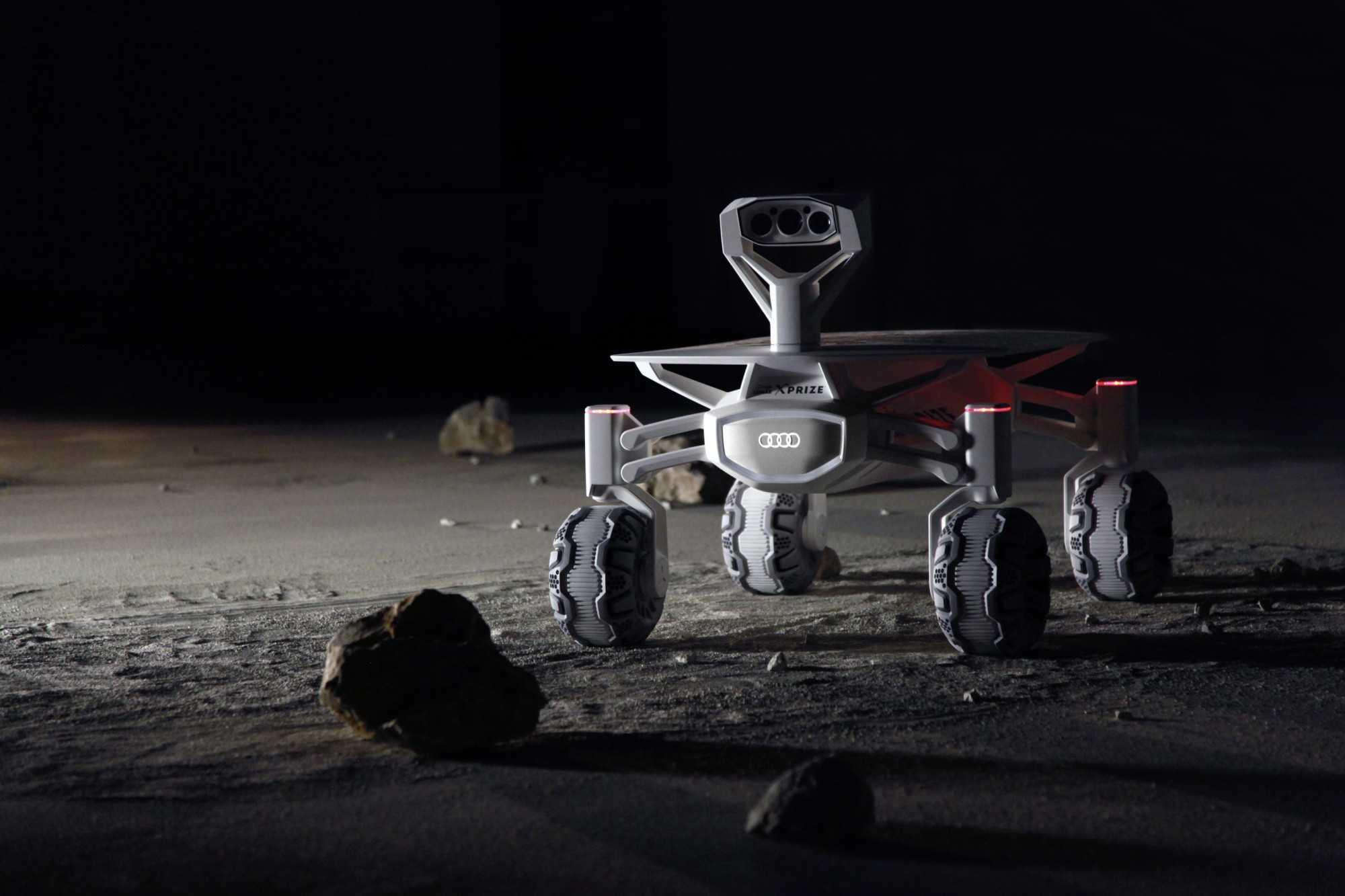 Audi lunar quattro. Eine umfangreiche Bildergalerie gibt es beim Hintergrundartikel: Bild anklicken.