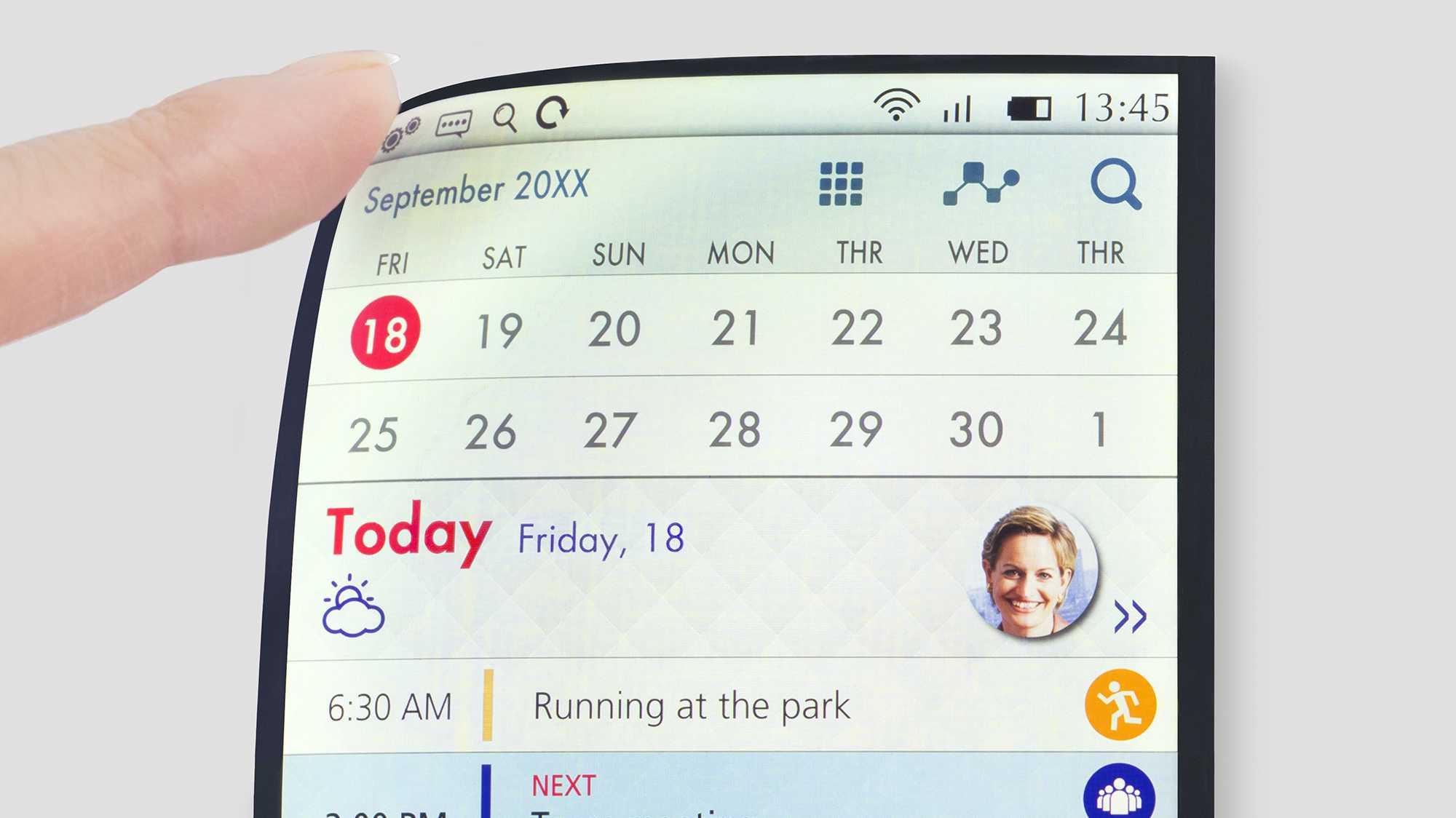 Full Active Flex: biegsame Displays mit LCD- und OLED-Technik