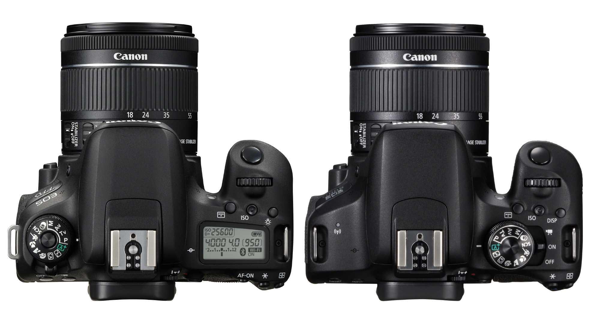 Canon EOS 77D und EOS 800D