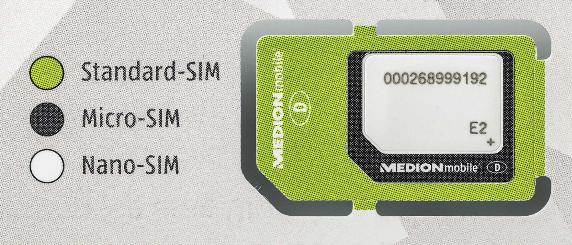 Bei einer Triple-SIM lässt sich das benötigte Format einfach herausbrechen.