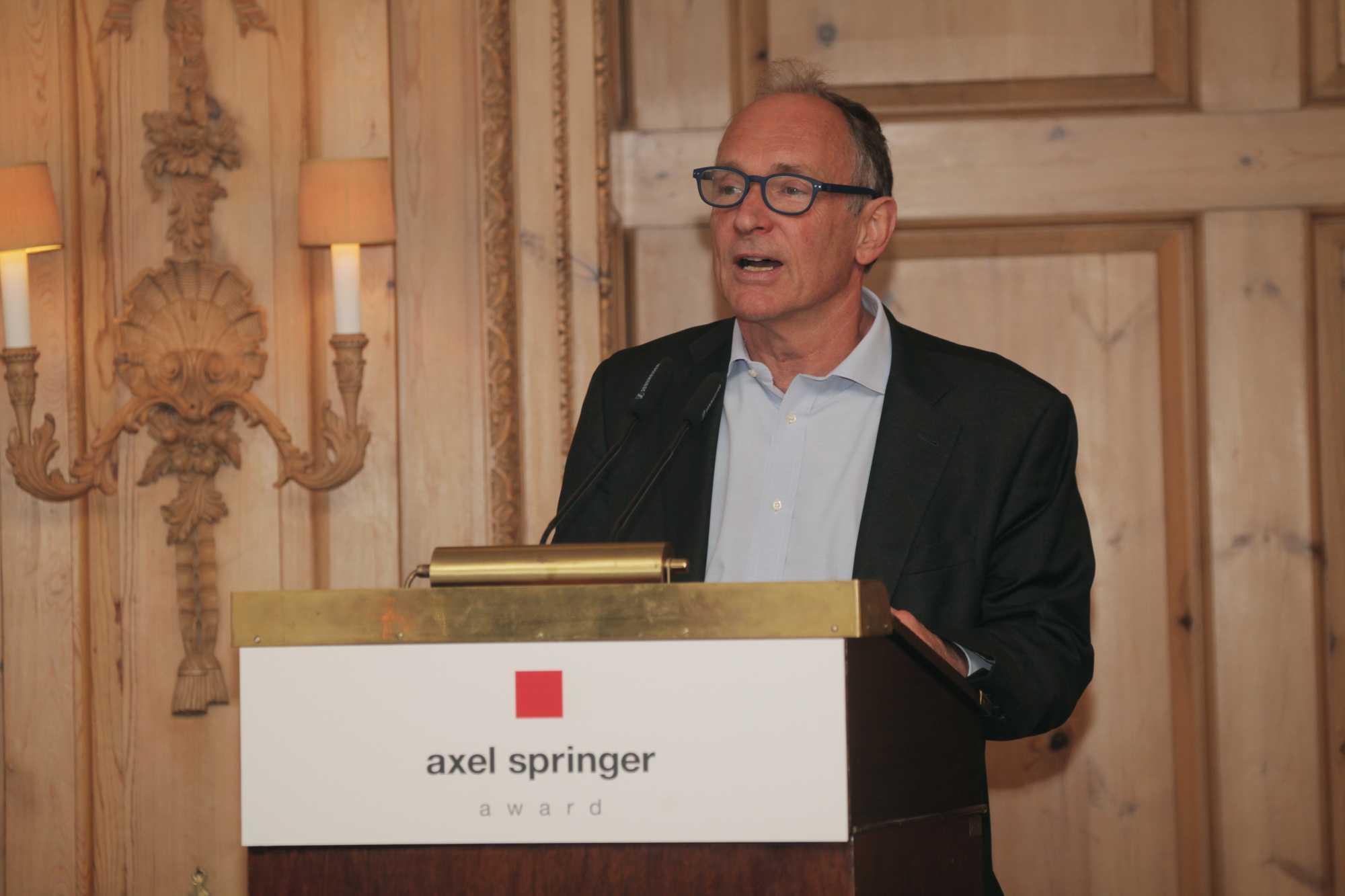 Sir Timothy Berners-Lee während der Verleihung