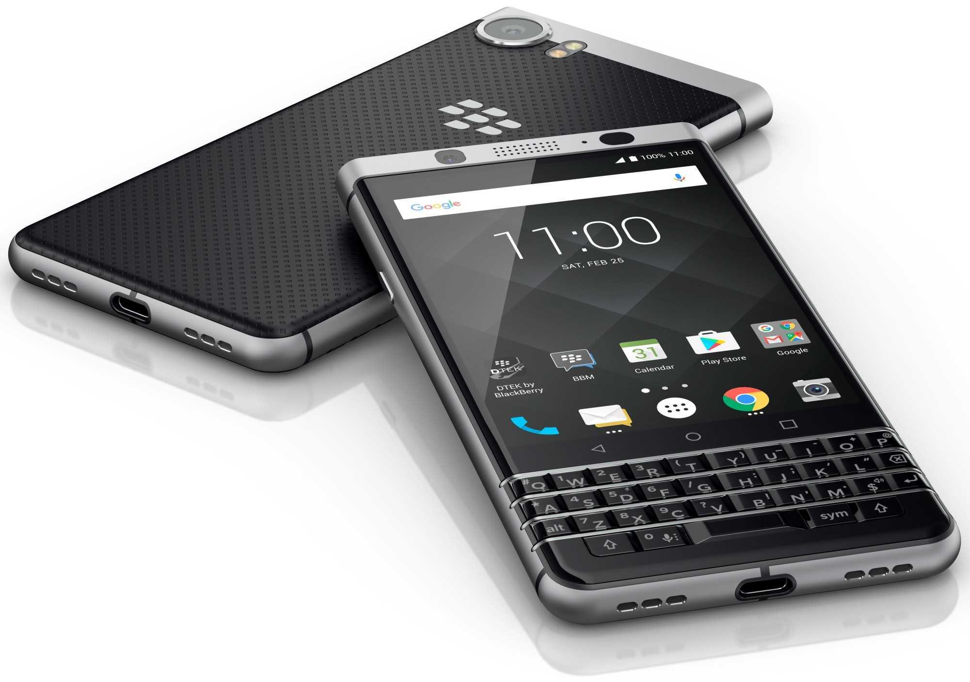 BlackBerry KEYone läuft unter Android 7.1.1, die älteren Geräte unter Marshmallow 6.0.1.