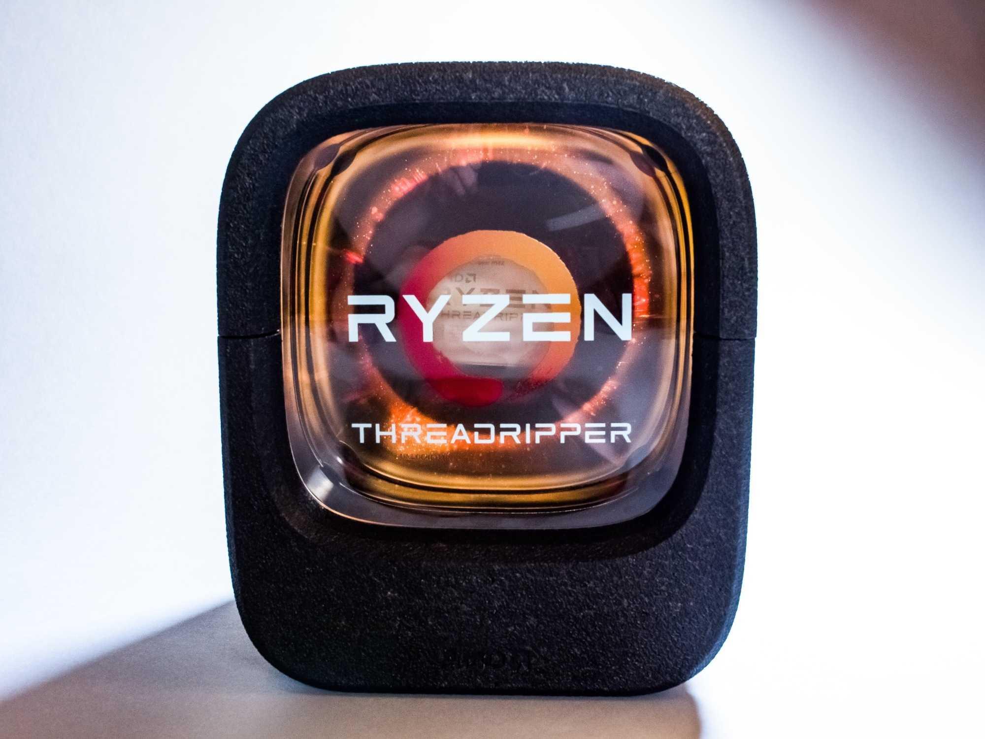 AMD-Verpackung der kommenden Threadripper-Prozessoren