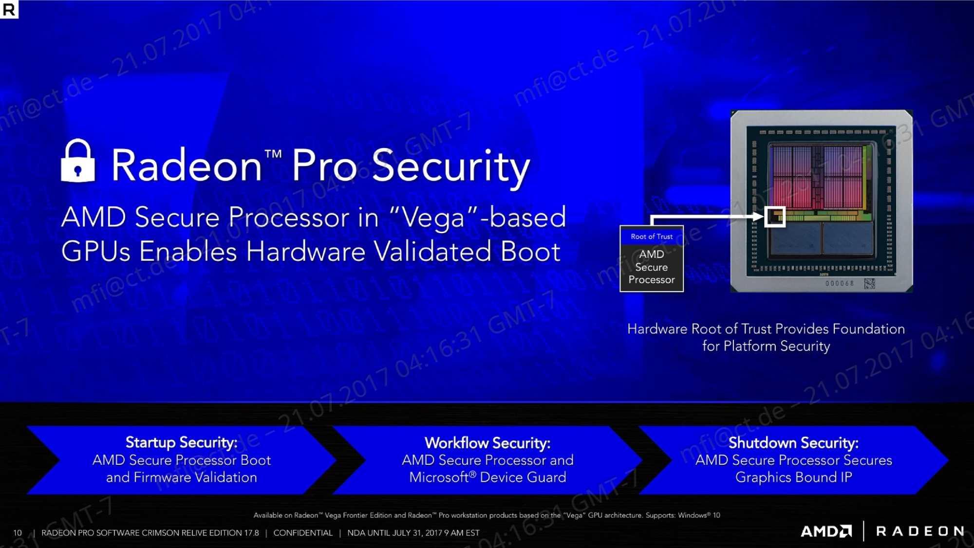Vega-GPUs enthalten einen Sicherheitsprozessor, den AMD Secure Processor.