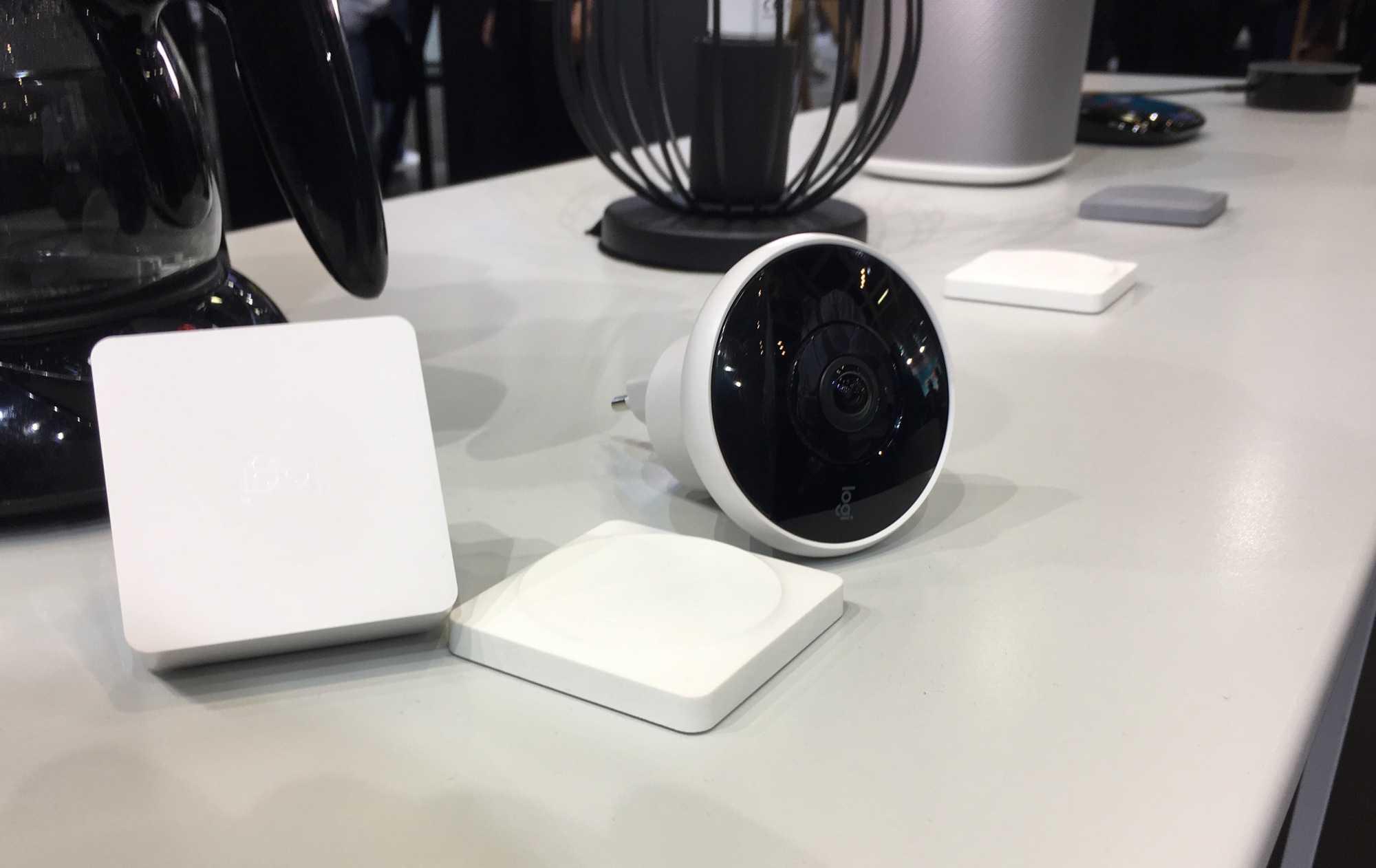 Logitech zeigt die HomeKit-Bridge, den Button und die Kamera Circle 2 auf dem IFA-Stand.