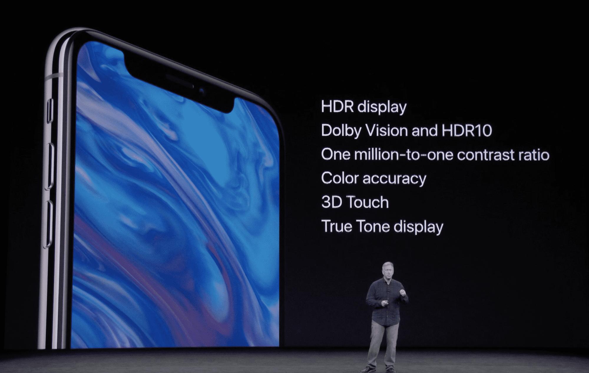 Erst das iPhone X kommt mit HDR-Display und Unterstützung für HDR10 und Dolby Vision.