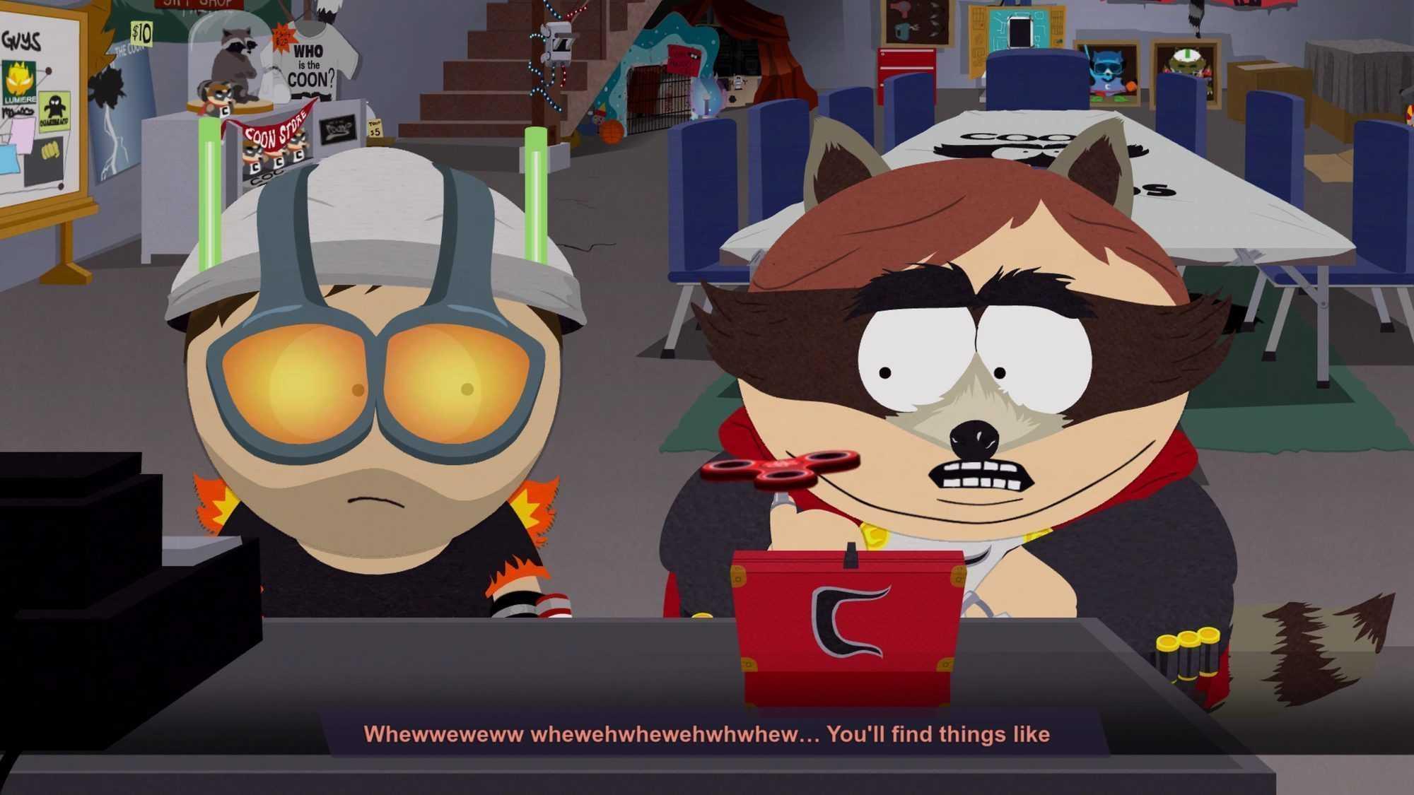 """Cartman alias Coon weist das """"neue Kind"""" in die Finessen des Superhelden-Geschäfts ein."""