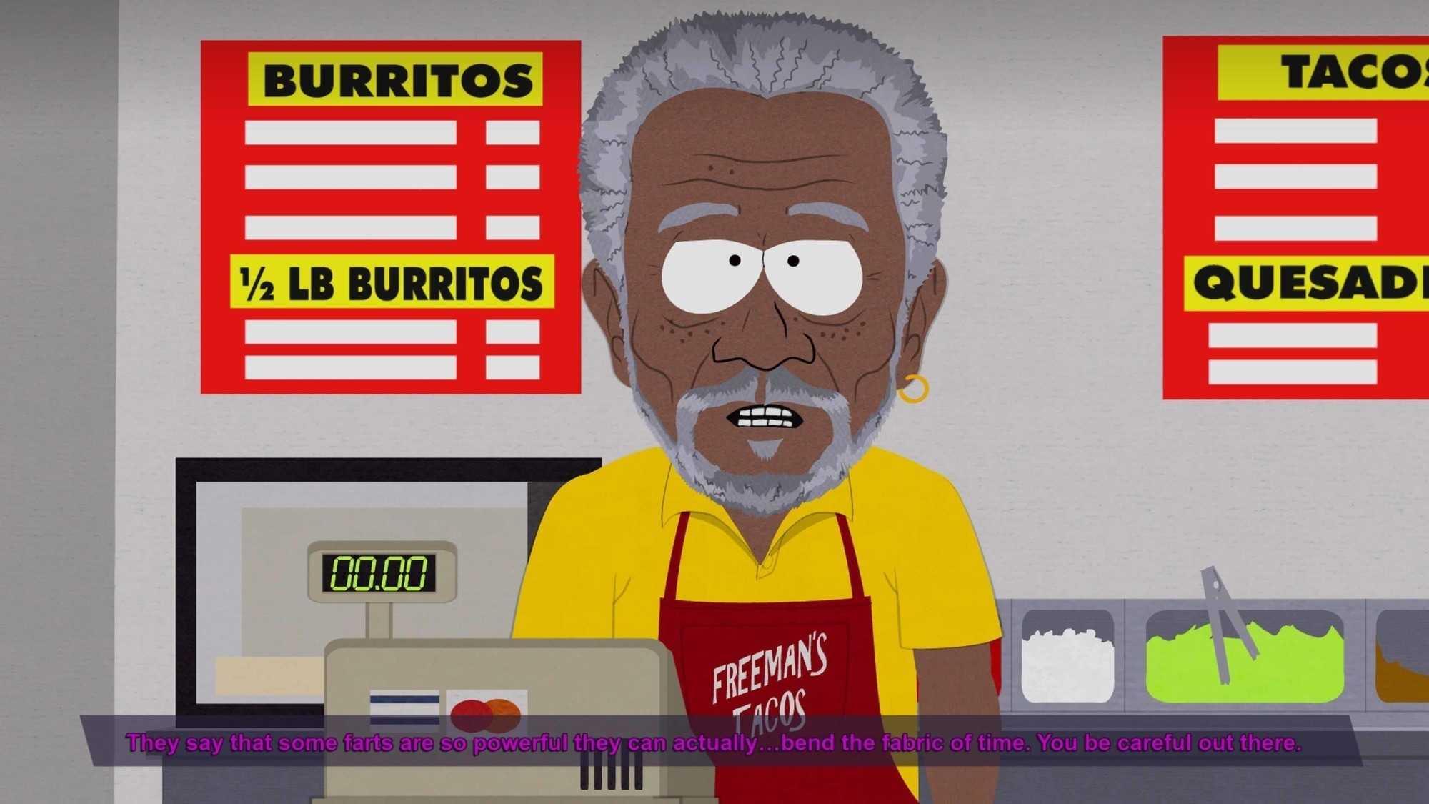 Im Taco-Imbiss steht US-Schauspieler Morgan Freeman hinterm Tresen und gibt Tipps fürs Backen energiereicher Snacks.