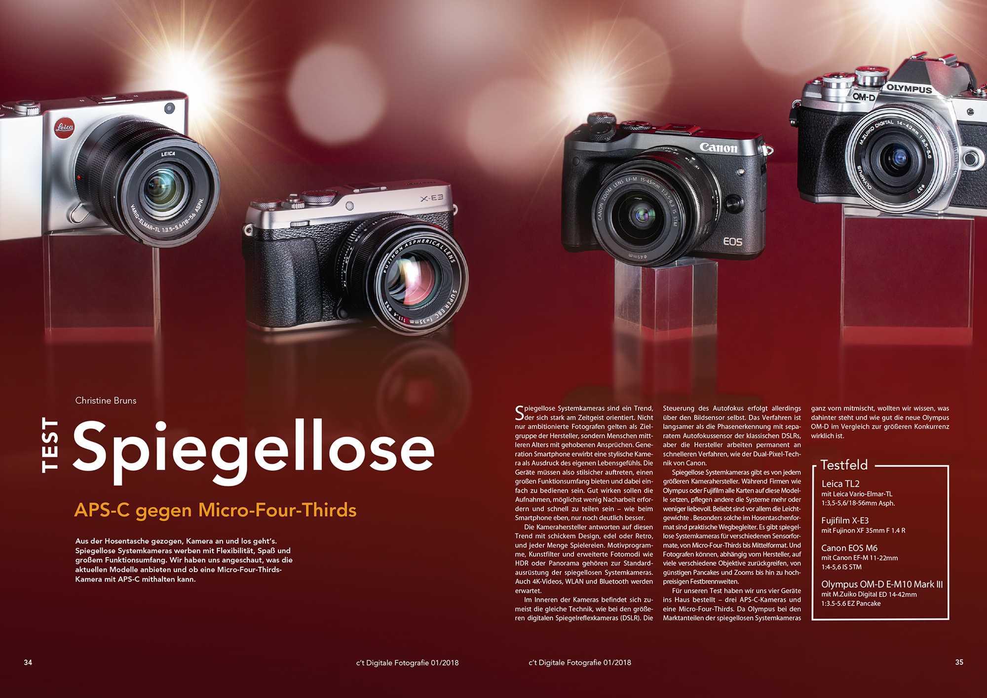 Kameratest Spiegelose Systemkameras