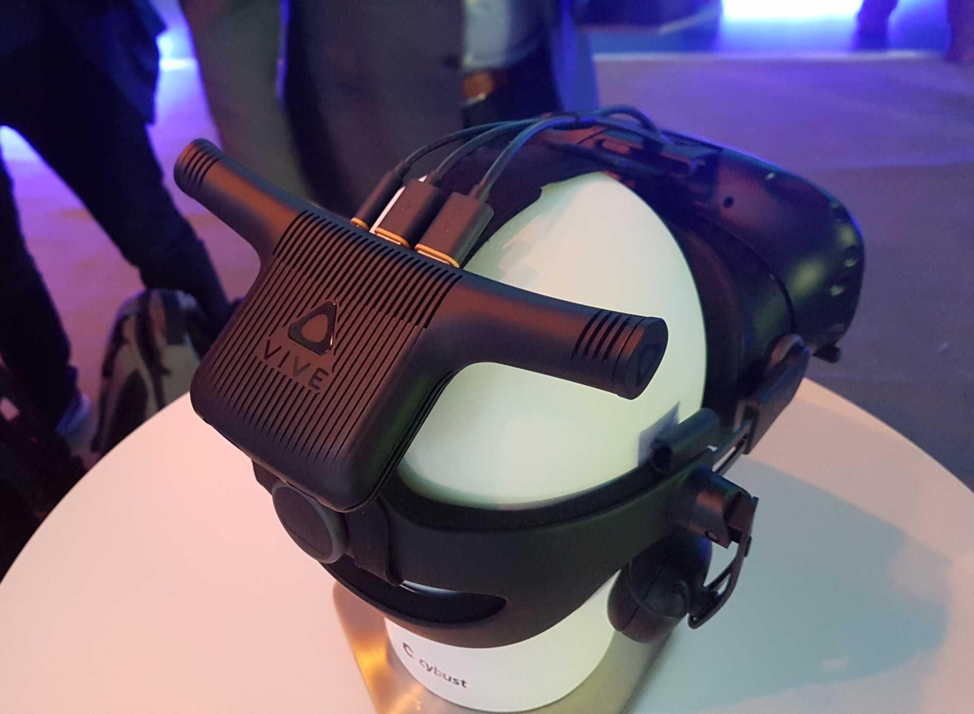 Für Sommer angekündigt: Ein mit der Vive Pro kompatibler Drahtlos-Adapter mit WiGig-Technik.