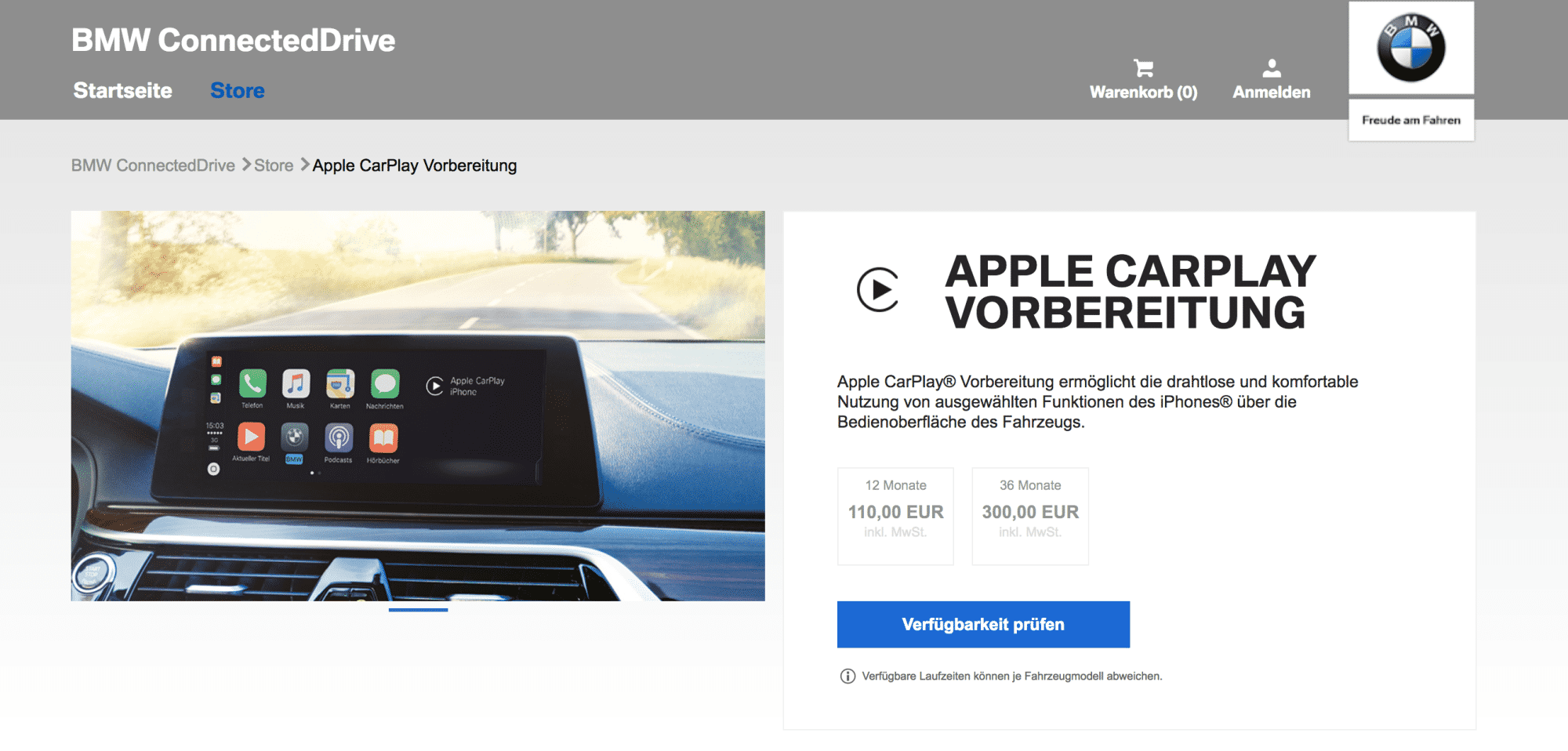 CarPlay bei BMW