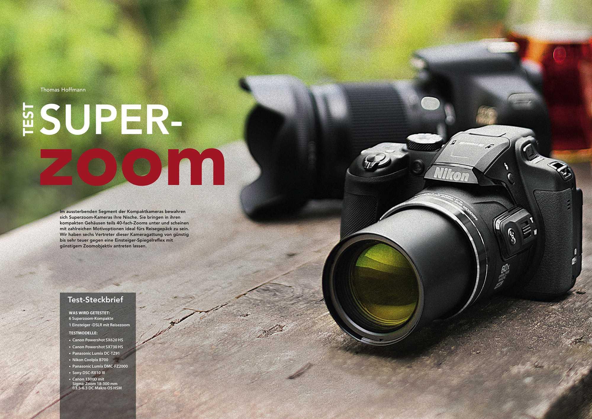 Im Test mussten sechs Superzoom-Kameras gegen eine günstige DSLR-Lösung mit Wechselobjektiv antreten.