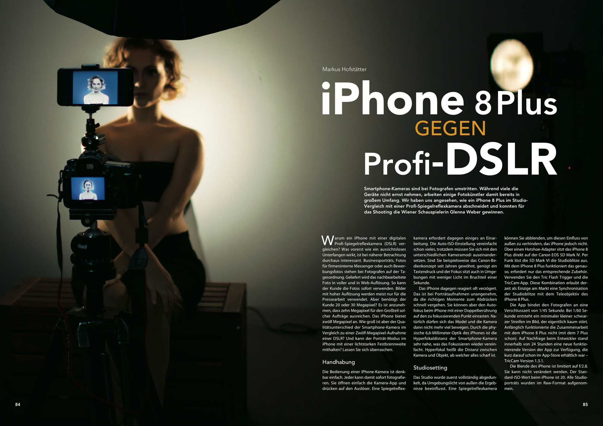 Profi-DSLR gegen Smartphone-Kamera: Wir haben das iPhone 8 Plus gegen Canons 5D Mark IV antreten lassen und vergleichen die Bildergebnisse.
