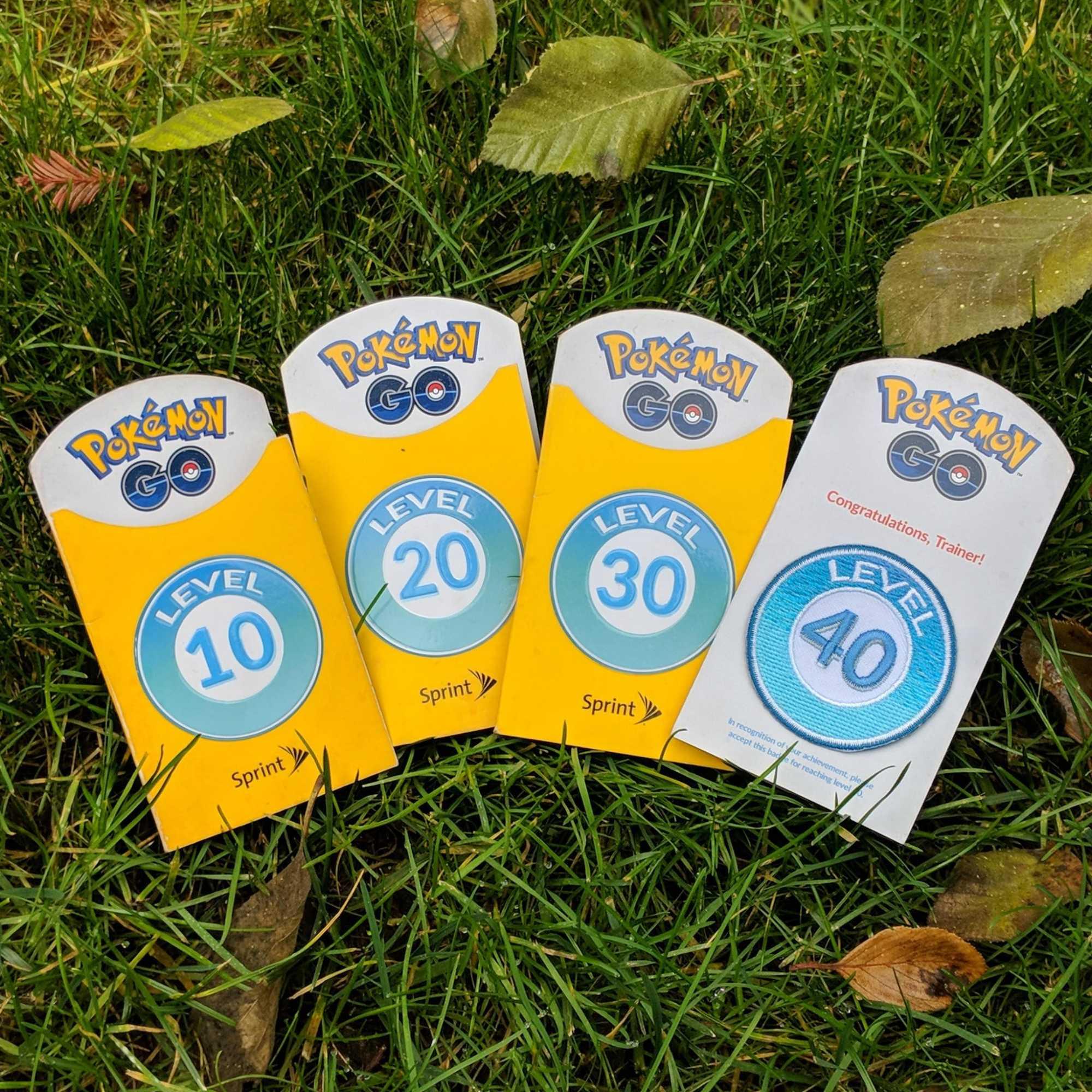 Level-Aufnäher für Pokémon-Go-Trainer