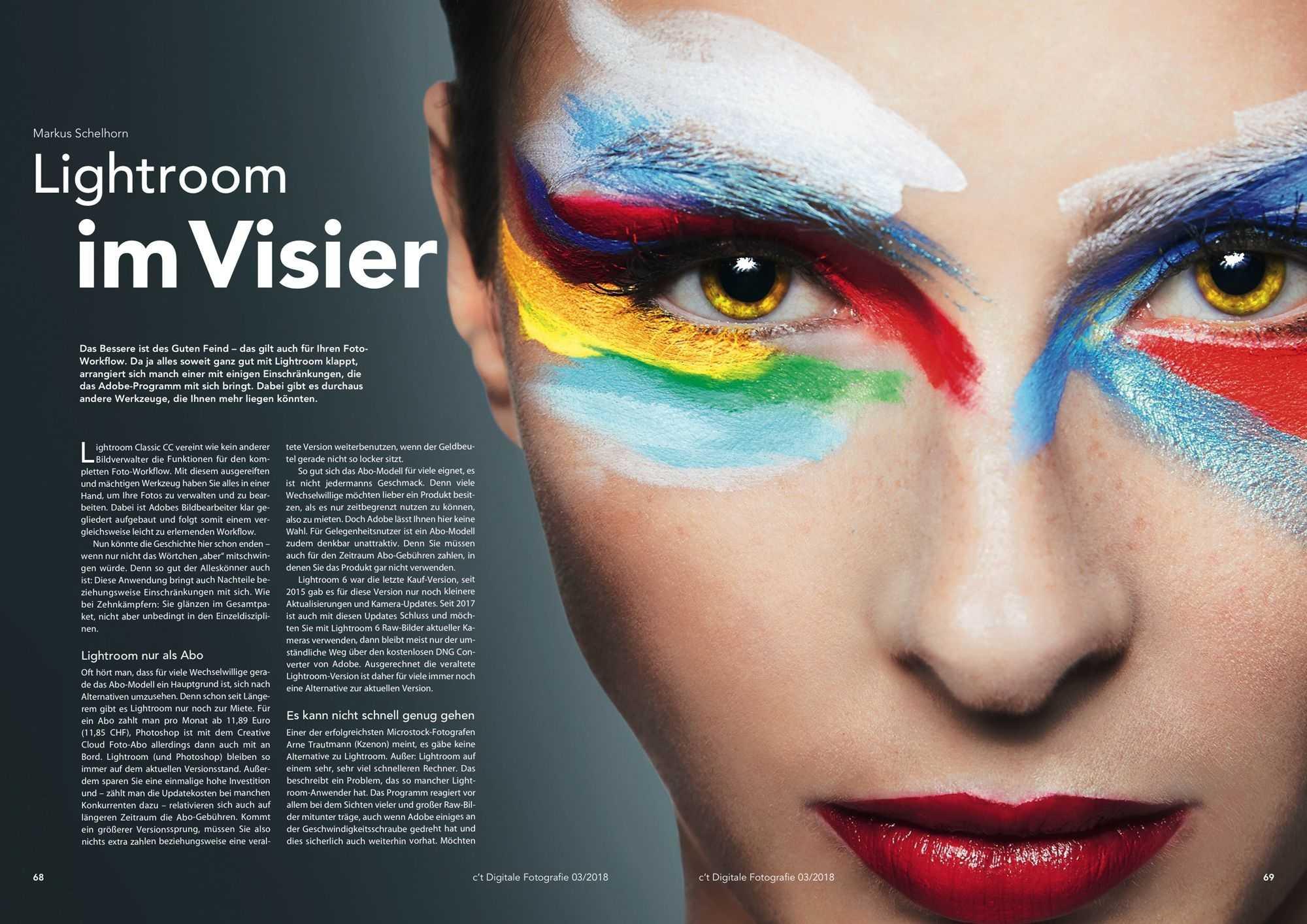 Lightroom im Visier, c't Fotografie 3/2018