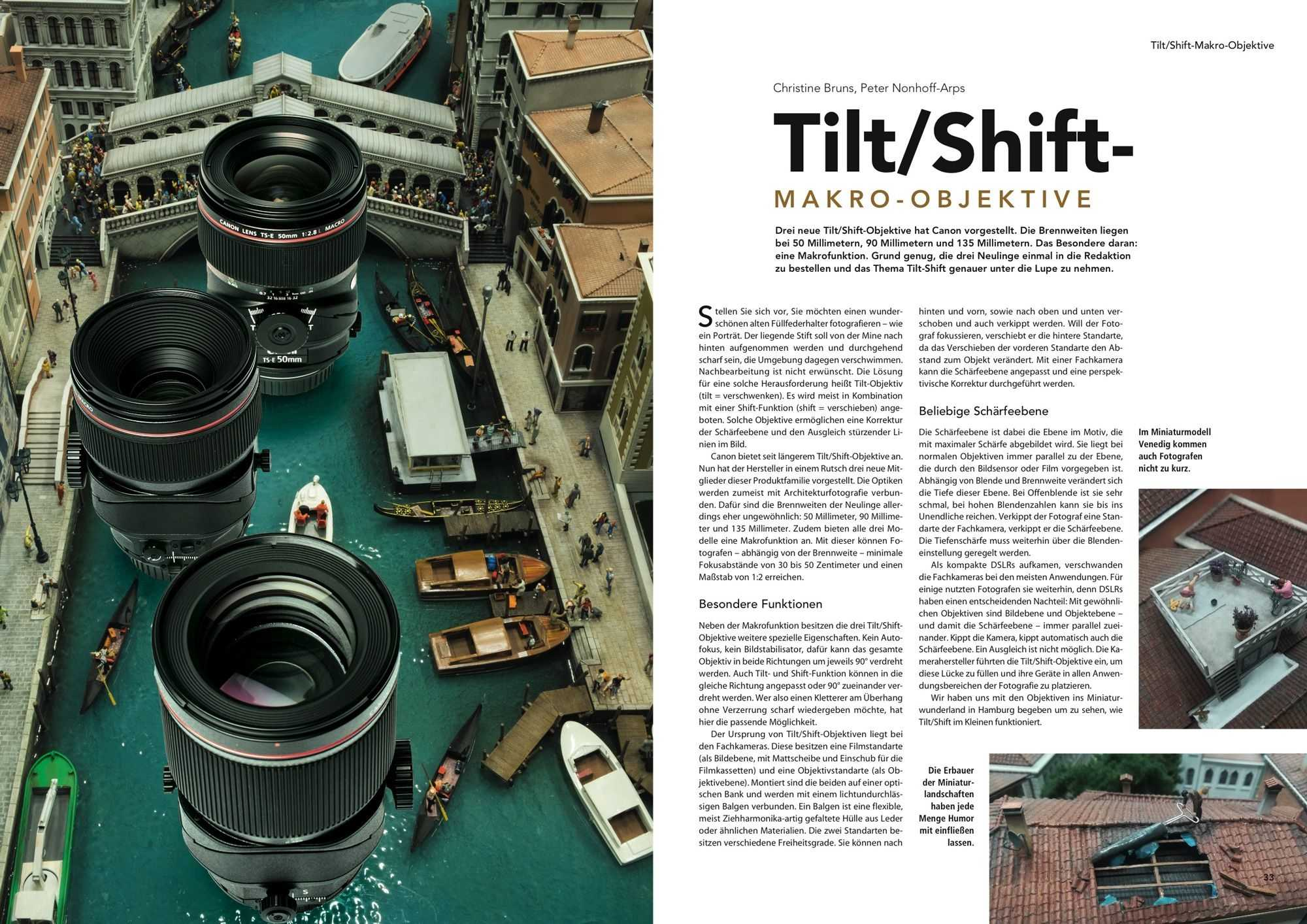 Tilt/Shift-Objektive, c't Fotografie 3/2018