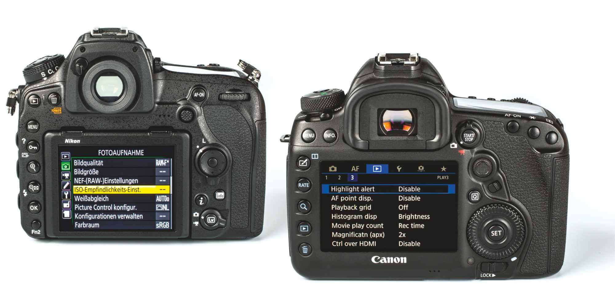 Test: DSLR-Vollformat-Kameras Nikon D850 und Canon EOS 5D Mark IV im ...