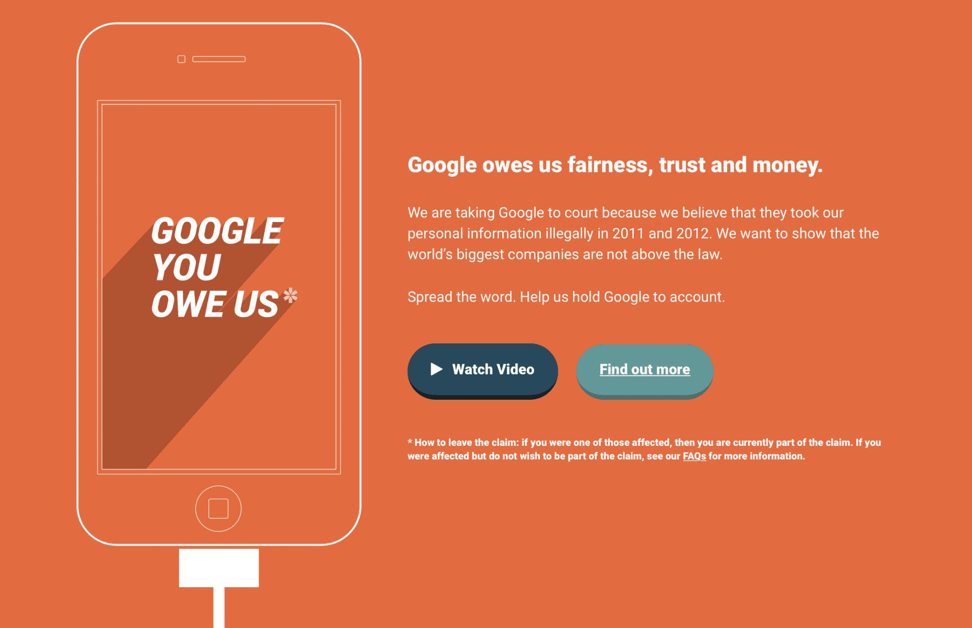 Hinter der Organisation Google You Owe Us steckt ein britischer Verbraucherschützer.