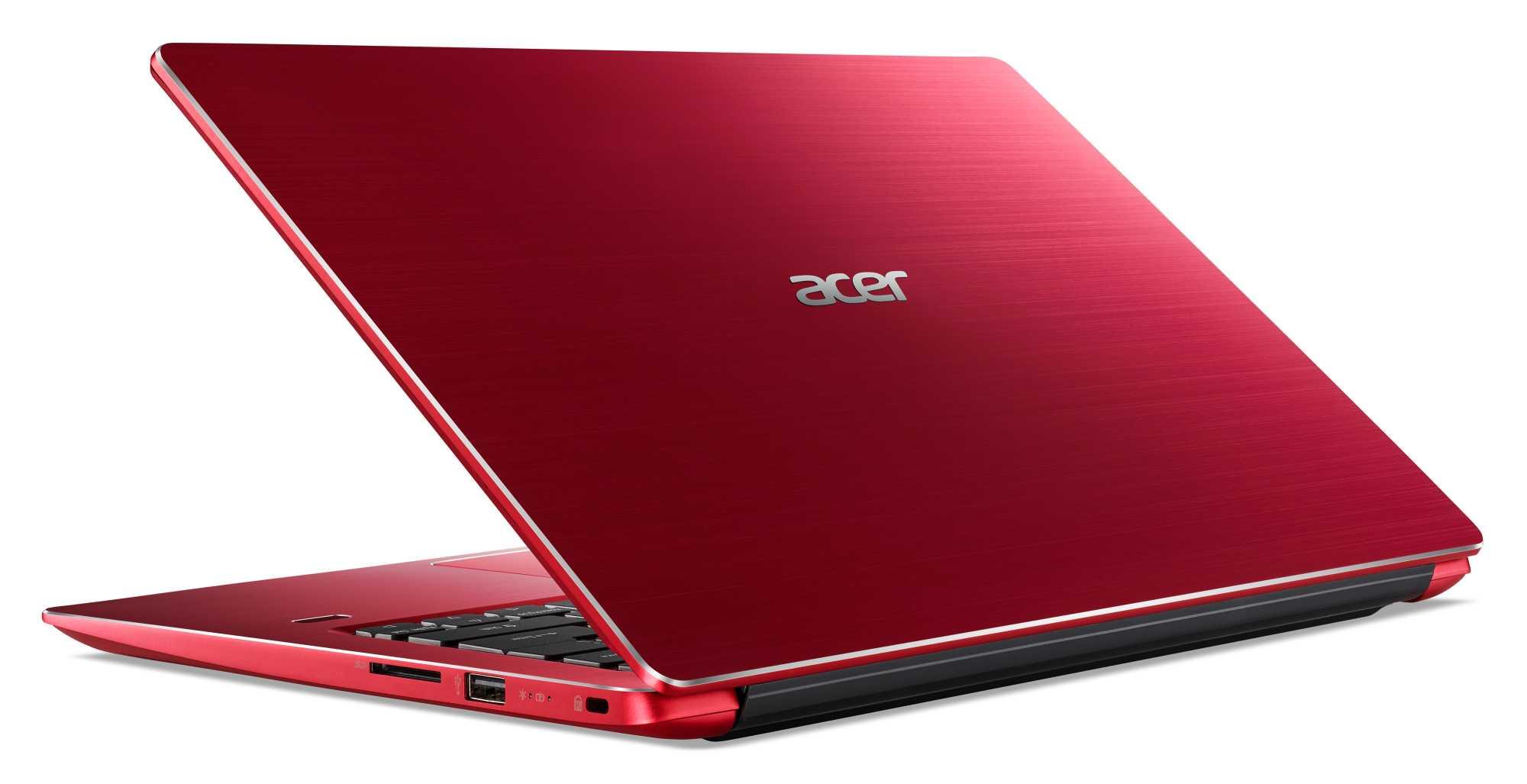 Das Acer Swift 3 gibt es in der 14-Zoll-Variante in mehreren kräftigen Farbtönen.