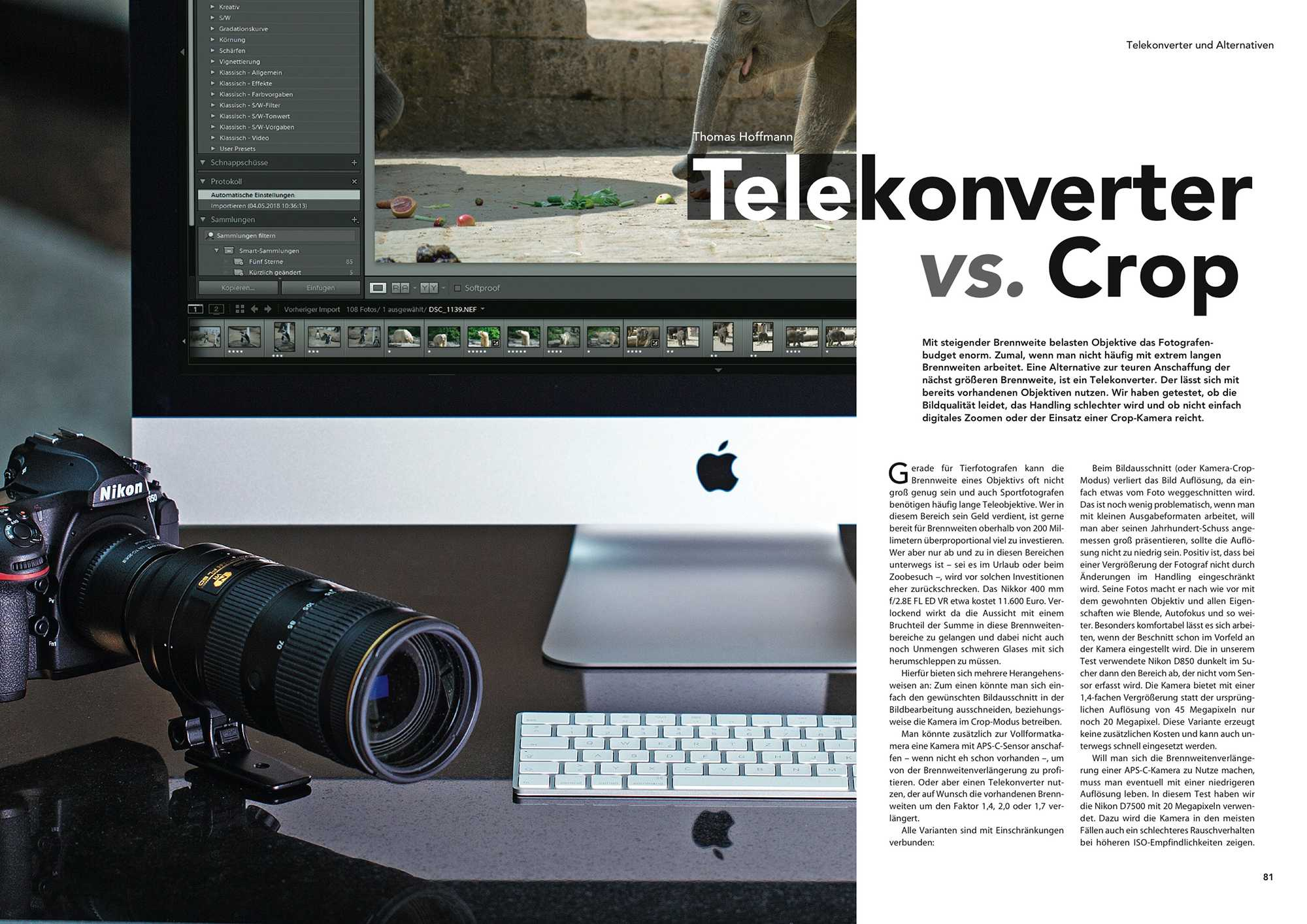 Telekonverter oder Crop-Kamera