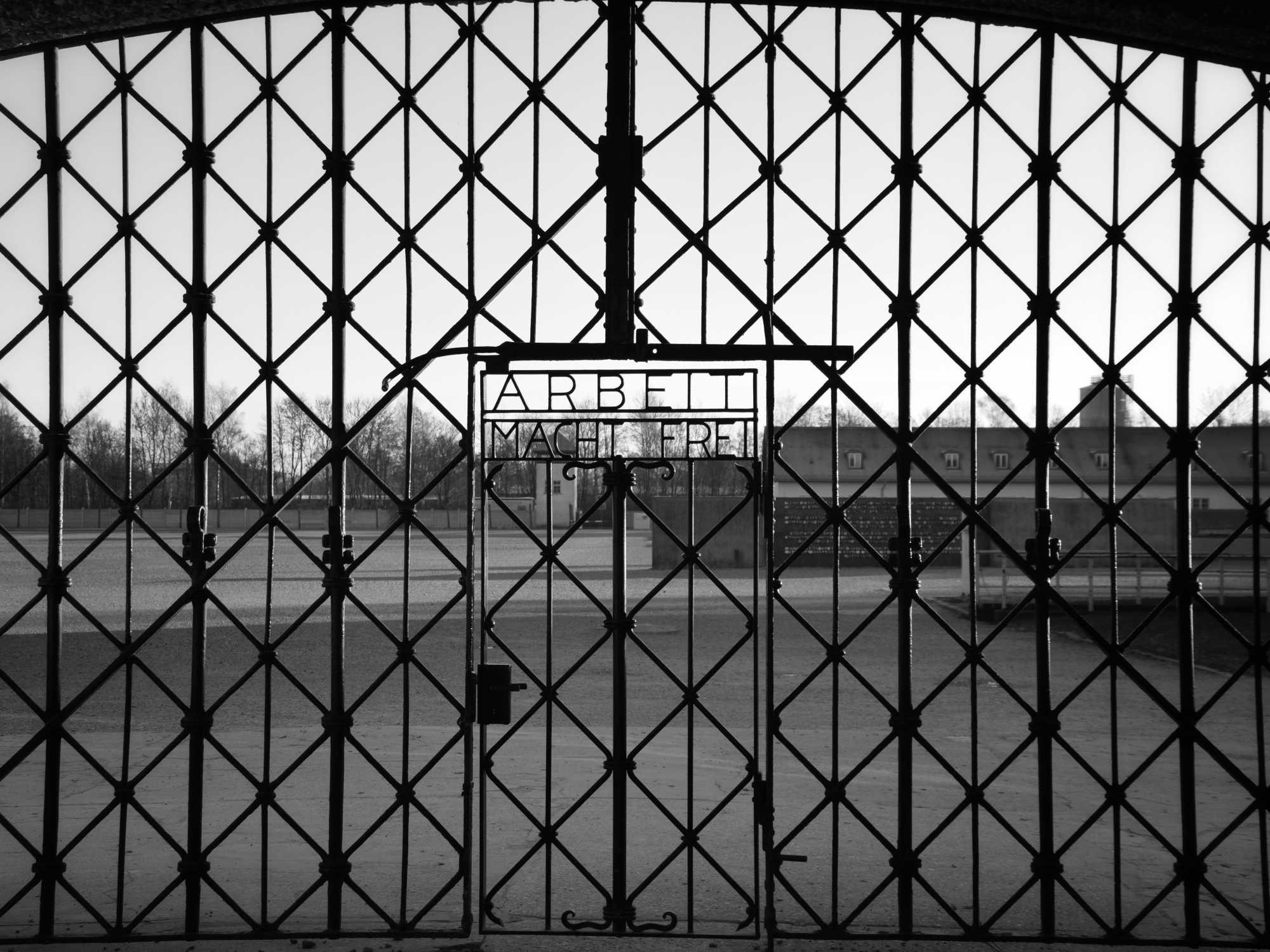 """""""Artbeit macht frei"""": Eingang zum Konzentrationslager Dachau"""