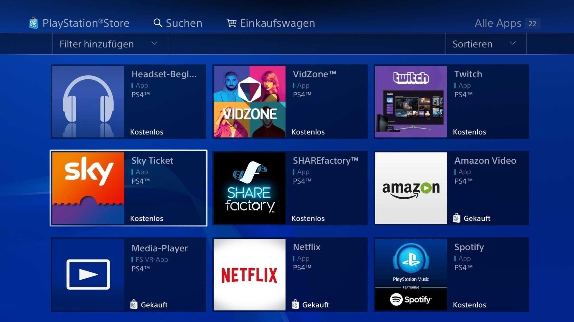 Mit der Playstation hat man Zugriff auf Streaming-Dienste von Amazon, Netflix und Co.