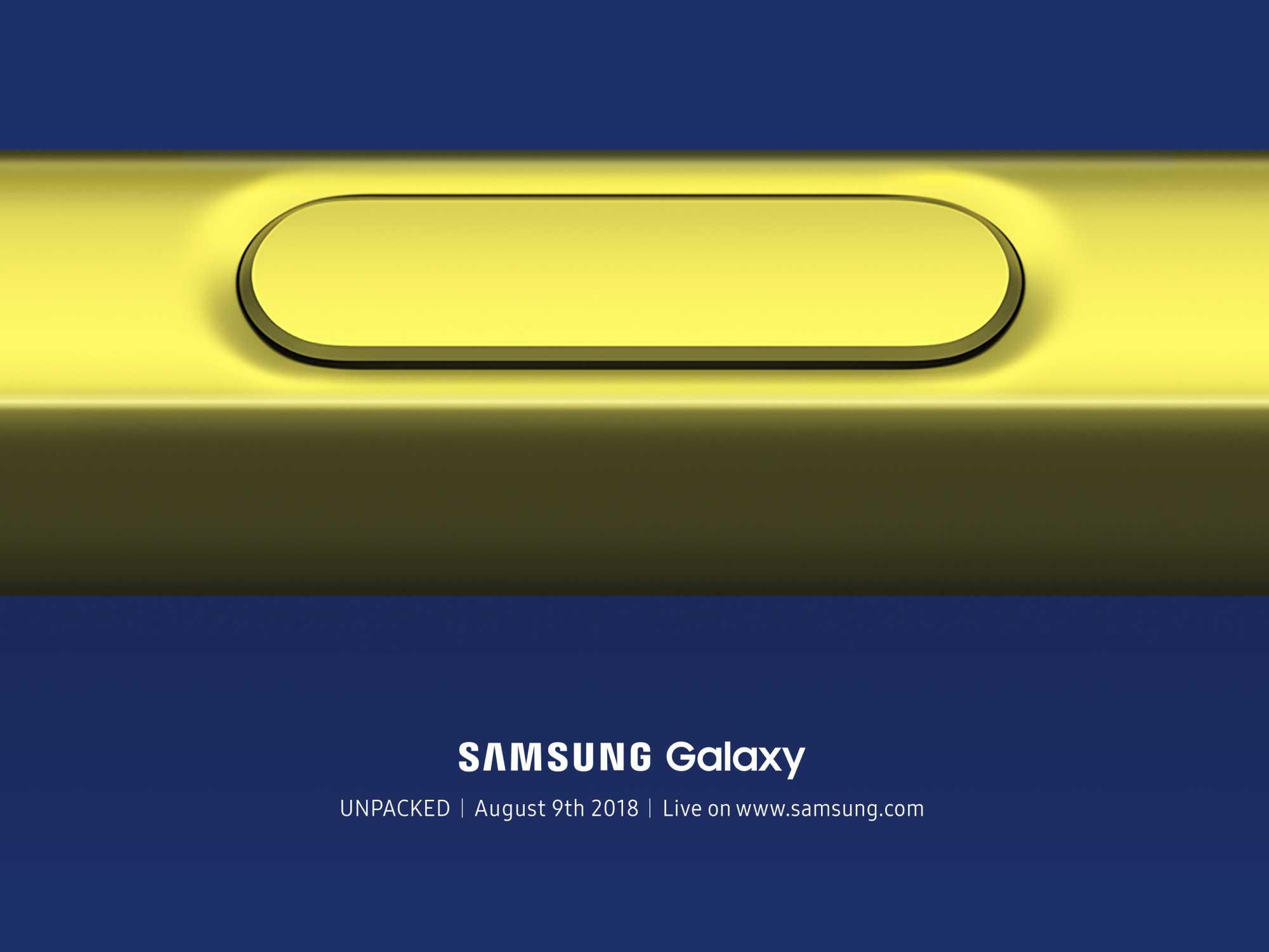 Das einzige offizielle Foto zum Galaxy Note 9 zeigt den Eingabestift S Pen.