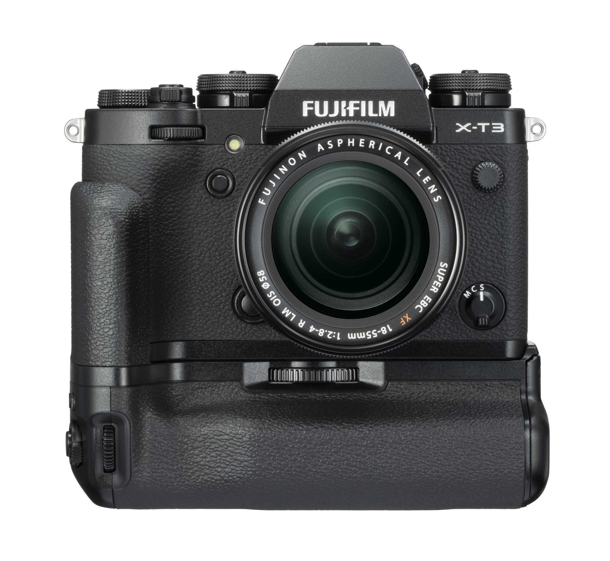 Auch für die neue spiegellose Systemkamera X-T3 bietet Fujifilm einen Handgriff an: VG-XT3. Anders als die Vorgängerin X-T2 braucht die Neue ihn allerdings nicht für schnelle Serienbildraten.