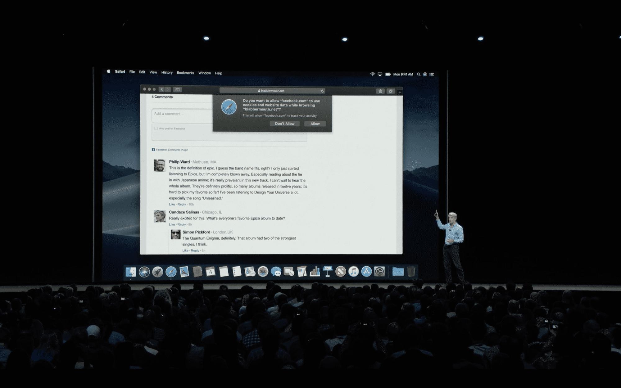 Apple macht keinen Hehl daraus, dass sich die verbesserte Anti-Tracking-Funktion besonders gegen Facebook richtet.
