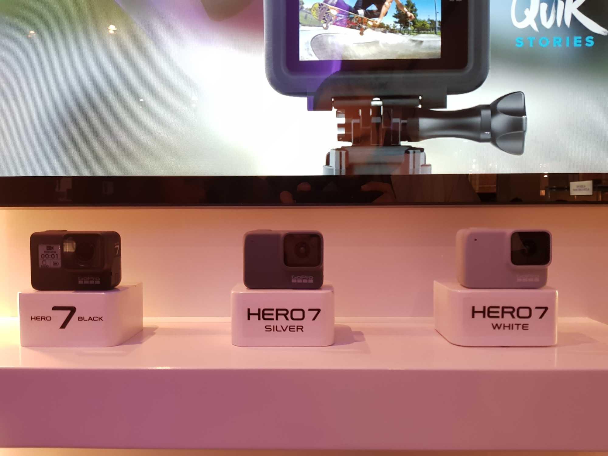 Black, Silver und White: Was die GoPro Hero kann, verrät die Farbe.
