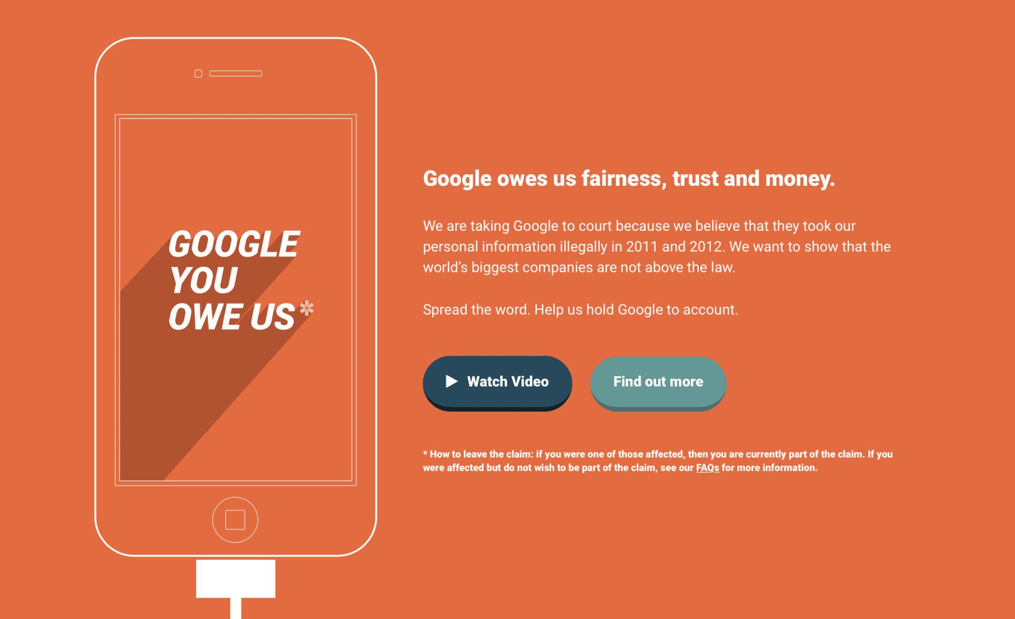 """Die Sammelklage von """"Google You Owe Us"""" wurde nun abgewiesen."""