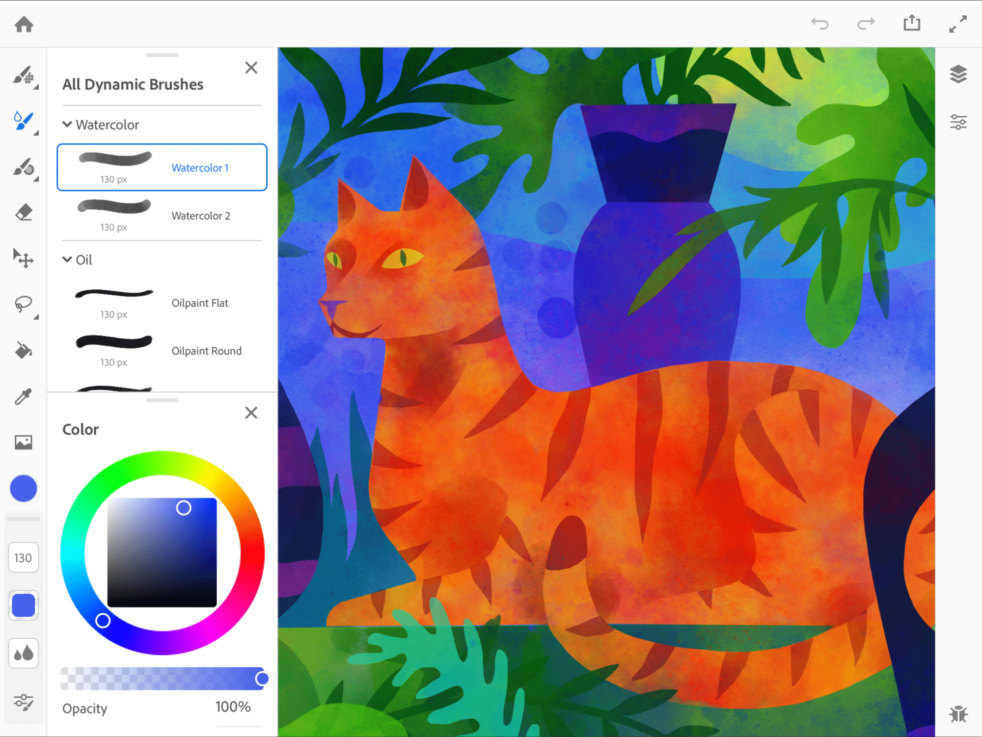 Project Gemini stellt Photoshops Pinsel-Engine in Form einer Digital-Painting-App bereit.