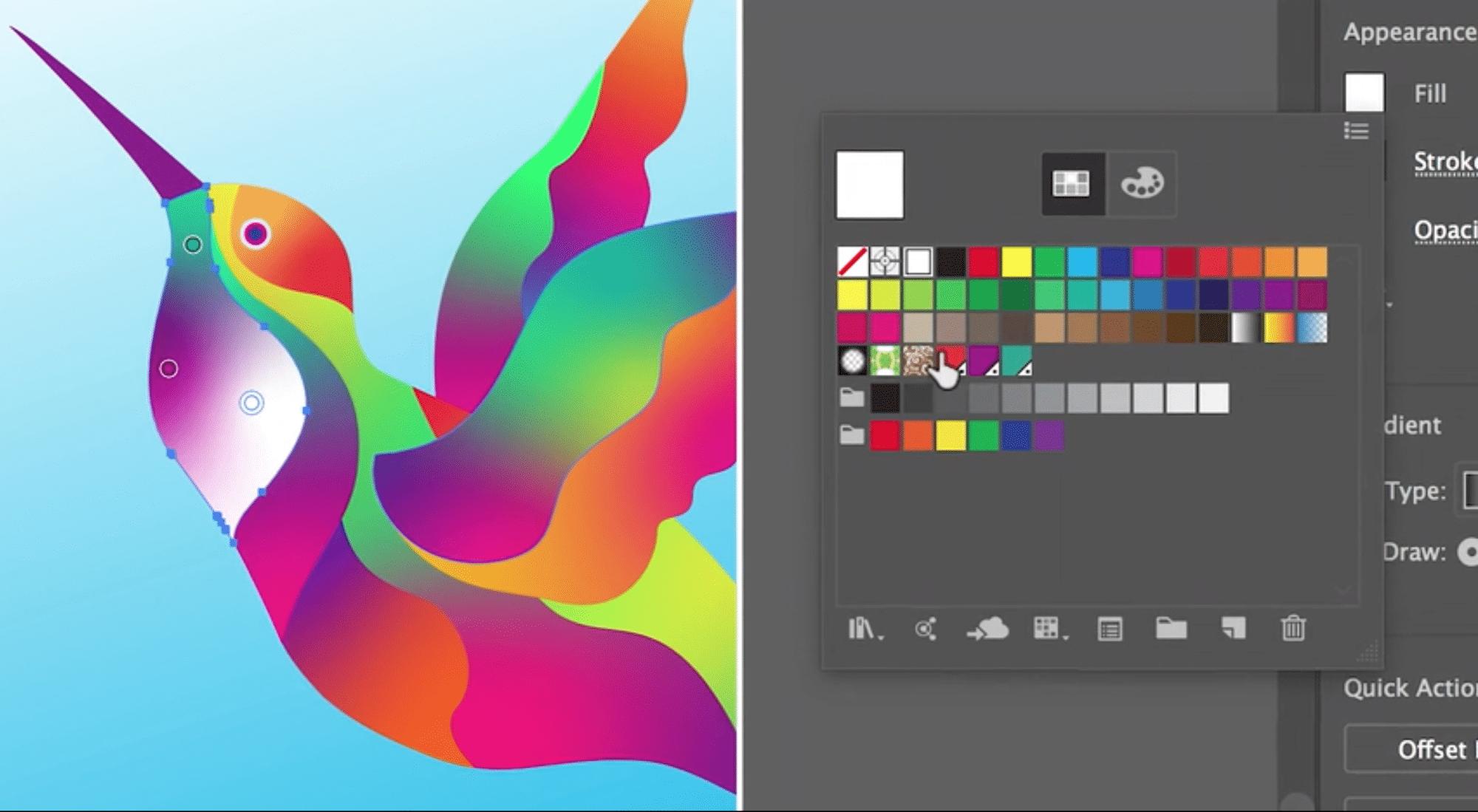 Illustrator CC bekommt ein erweitertes Werkzeug für Farbverläufe.