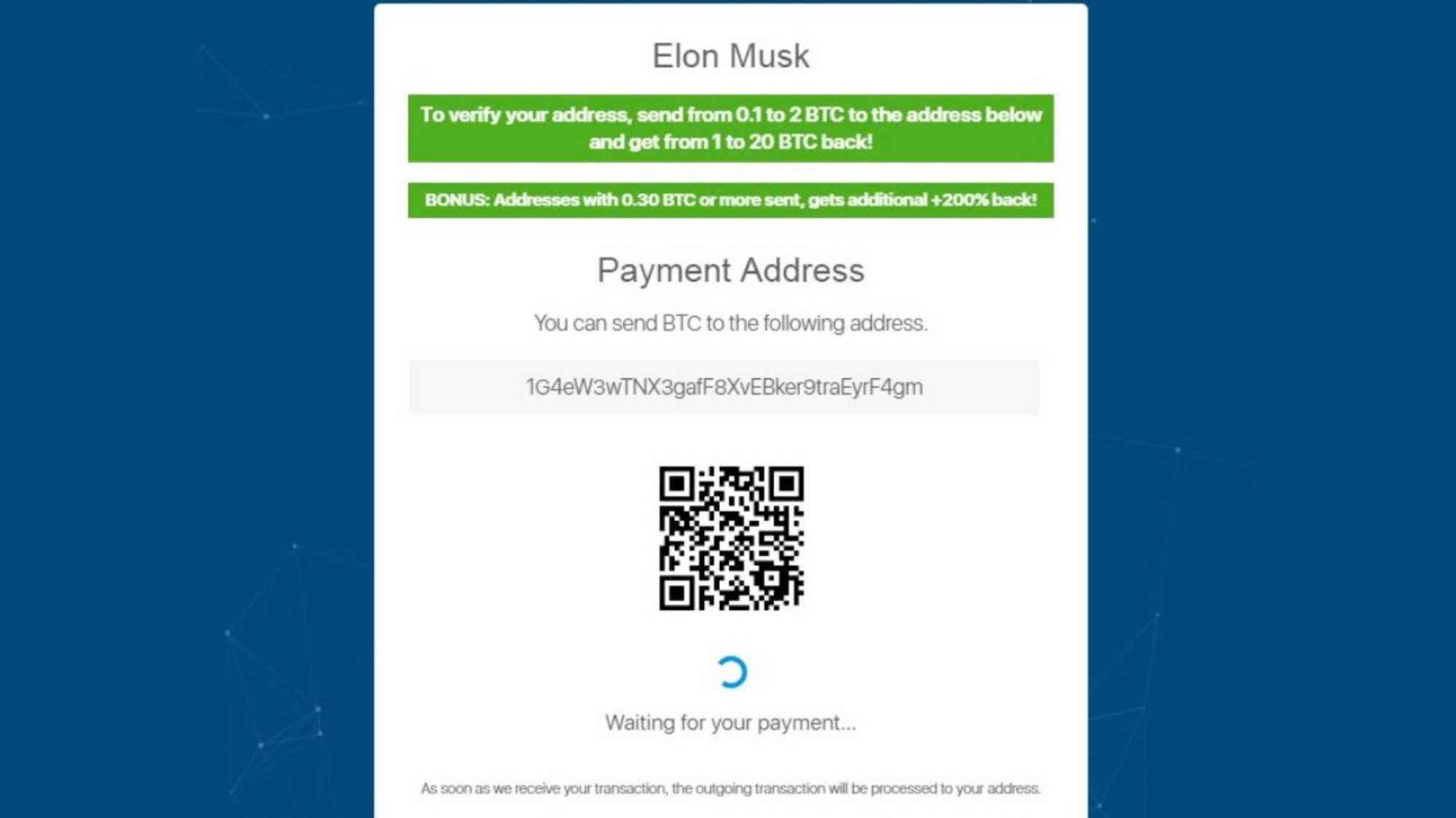 Bitcoin-Betrug mit vermeintlichen Accounts von Tesla-Chef auf Twitter