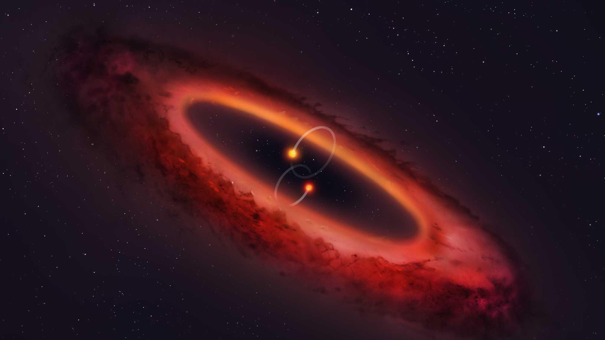 Noch ein Ort für Exoplaneten: Erste polare protoplanetare in Doppelsternsystem