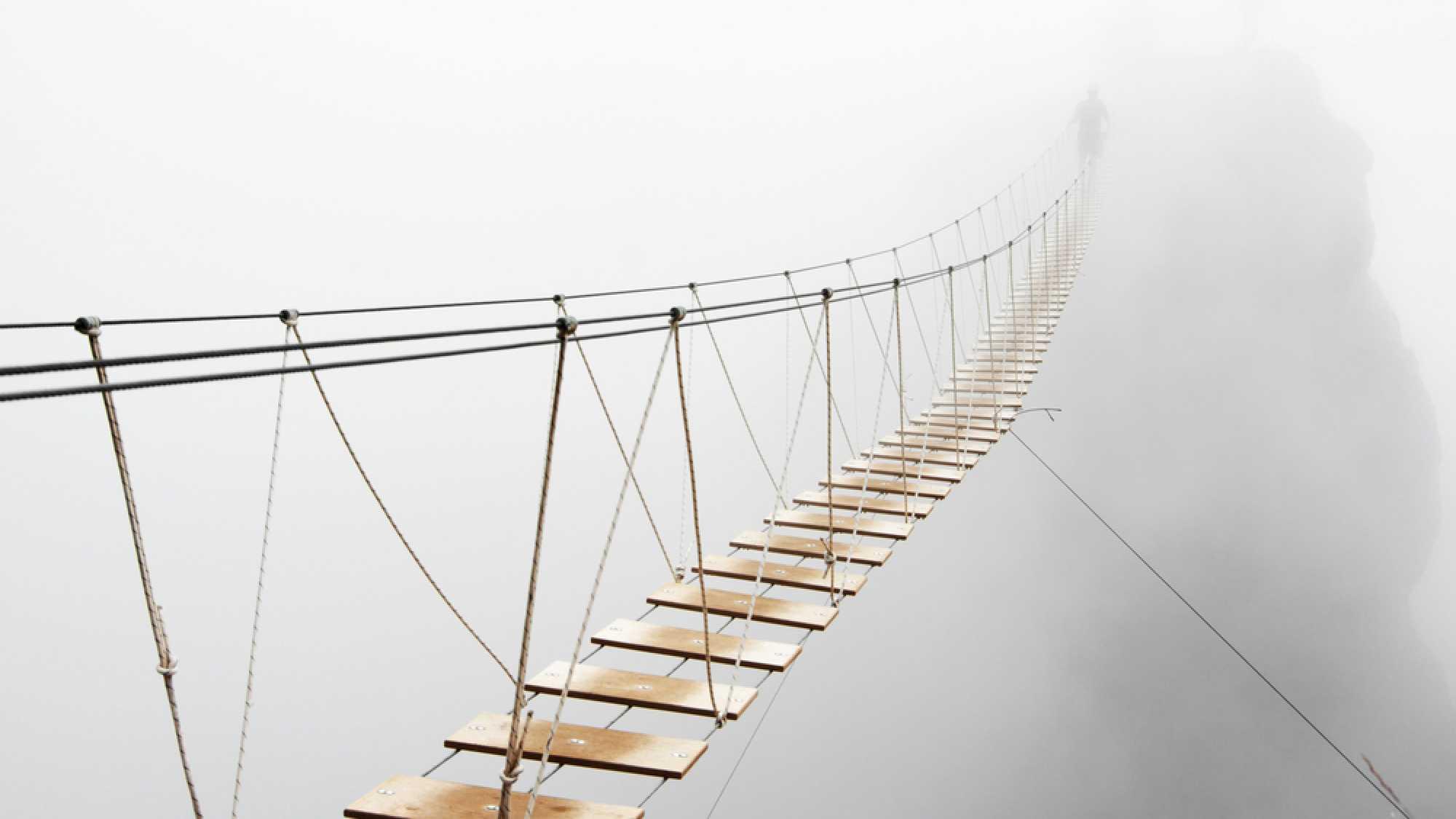 Unsicherheit, Brücke, Steg