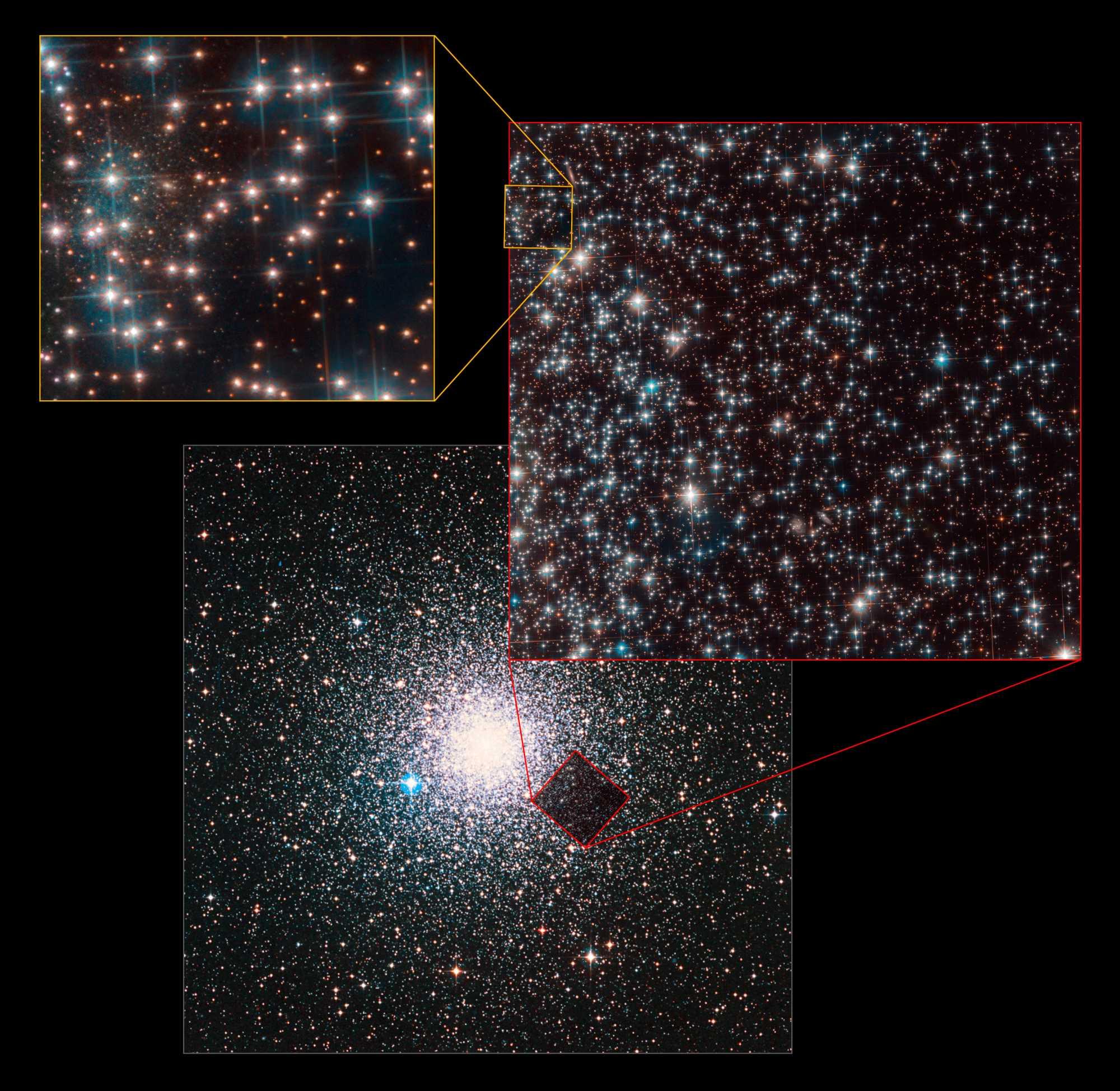 Der Fundort im Hintergrund von NGC 6752.