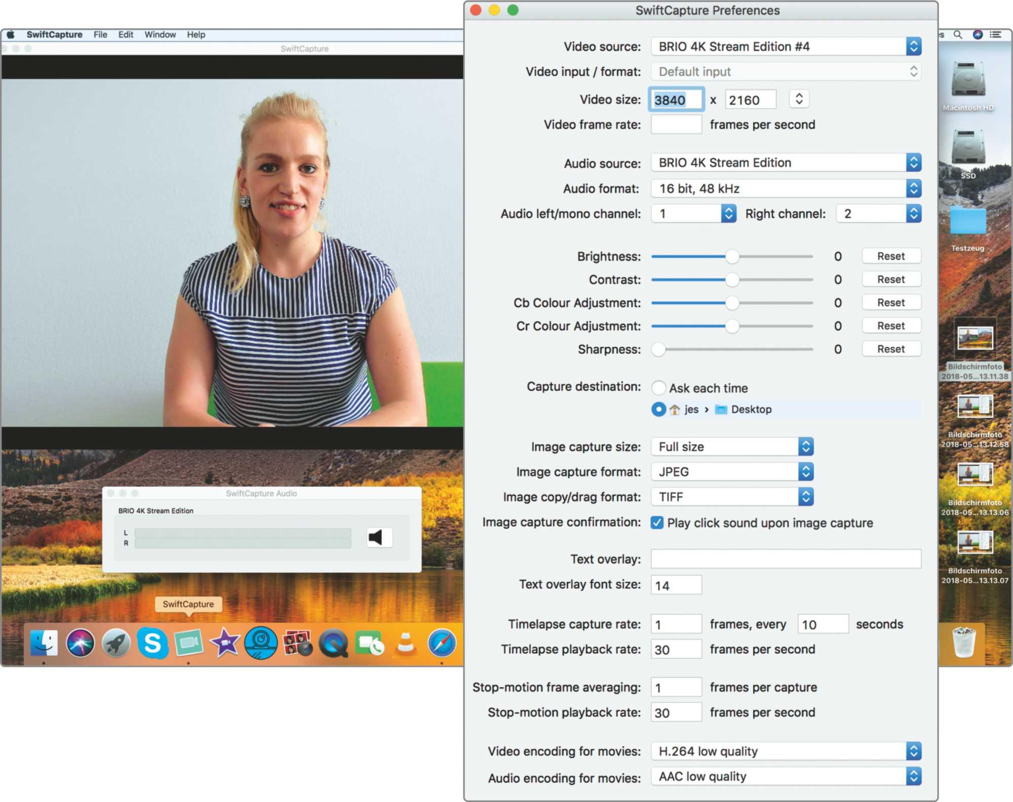 Die 35-Euro-Software SwiftCapture unterstützt auch höhere Auflösungen bis hin zu 4K.