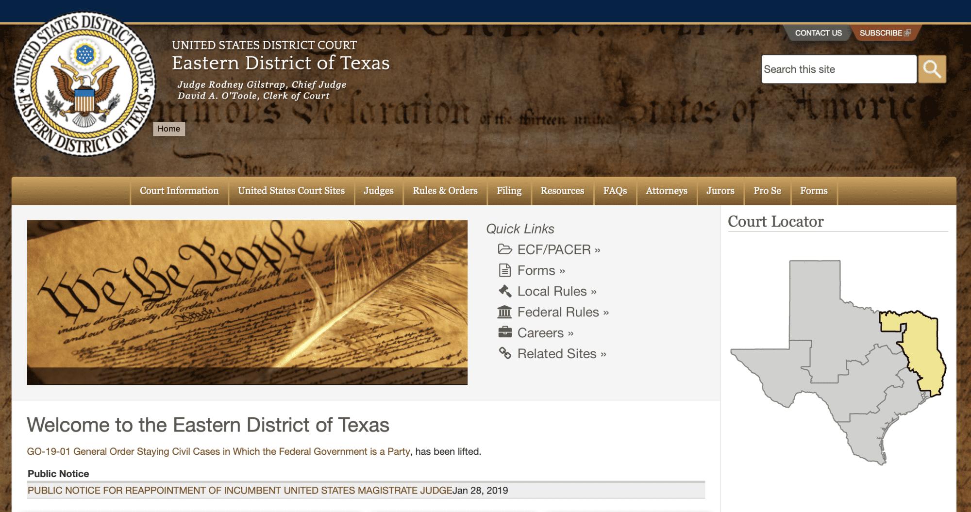 Das Bundesbezirksgericht Osttexas gilt als berühmt-berüchtigt, zugunsten von Patentinhabern zu entscheiden.