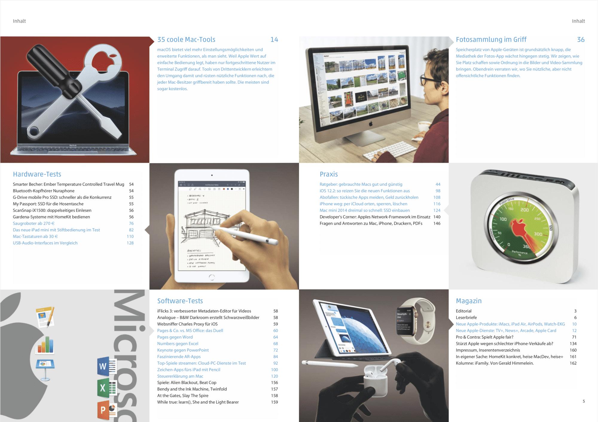 Mac & i Heft 2/2019: Inhaltsverzeichnis