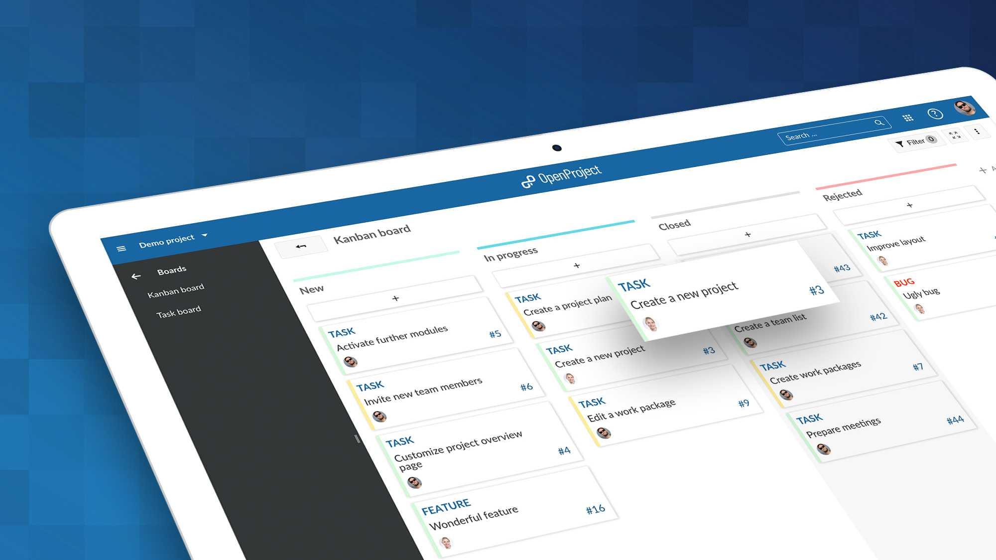 OpenProject 9.0: Neue Kanban-Boards für Enterprise-Nutzer