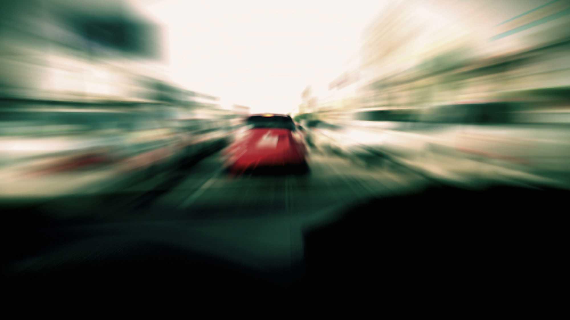 Schnell fahrendes Auto