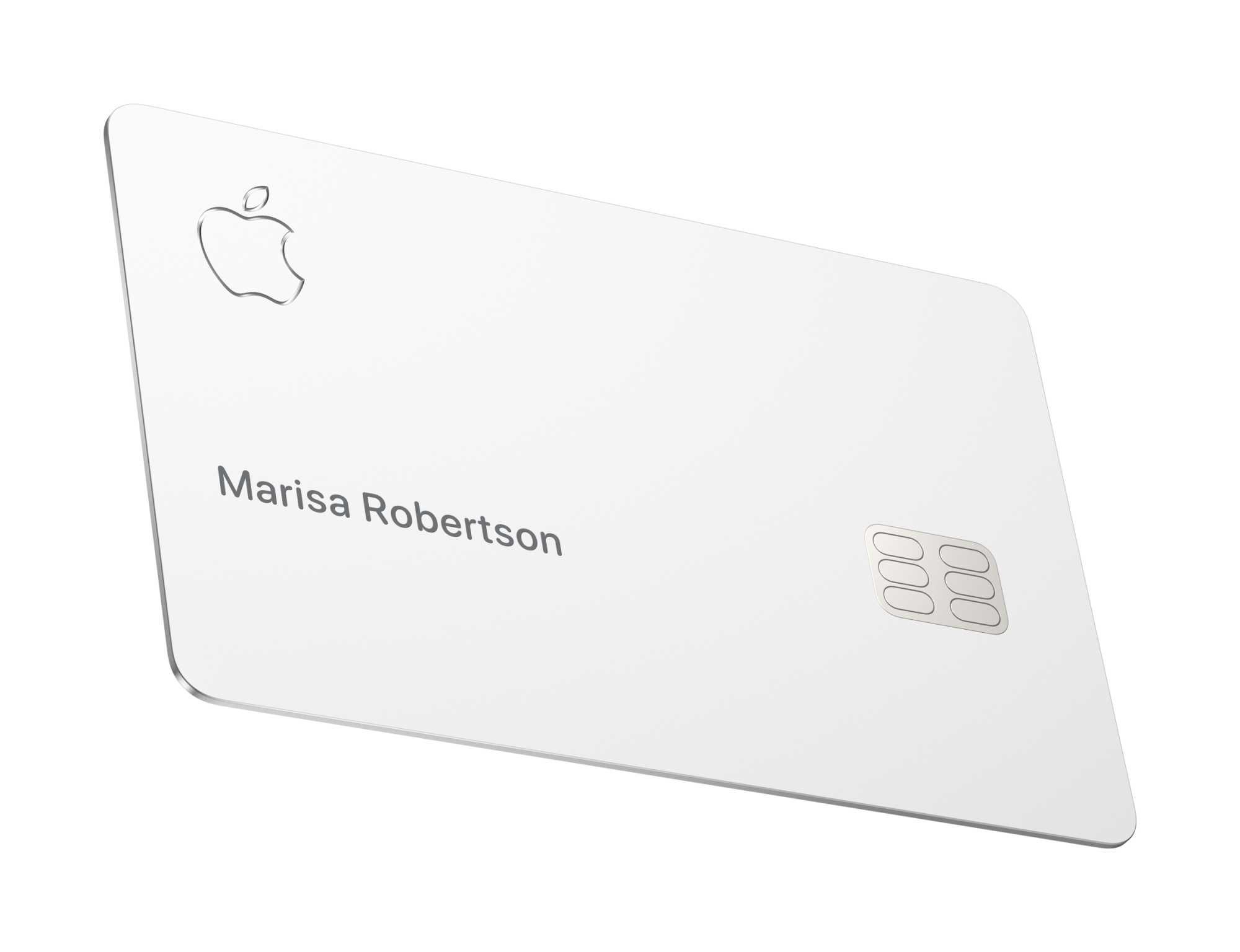 Die physische Apple-Kreditkarte kommt ohne typische Merkmale wie eine aufgedruckte Kreditkartennummer aus.