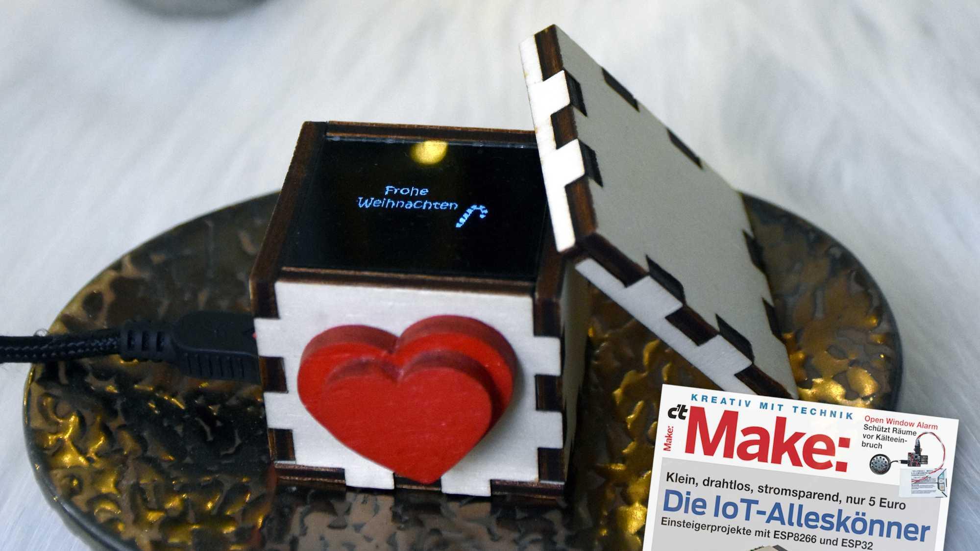 Weihnachtsgeschenke basteln mit ESP8266: Die Lovebox
