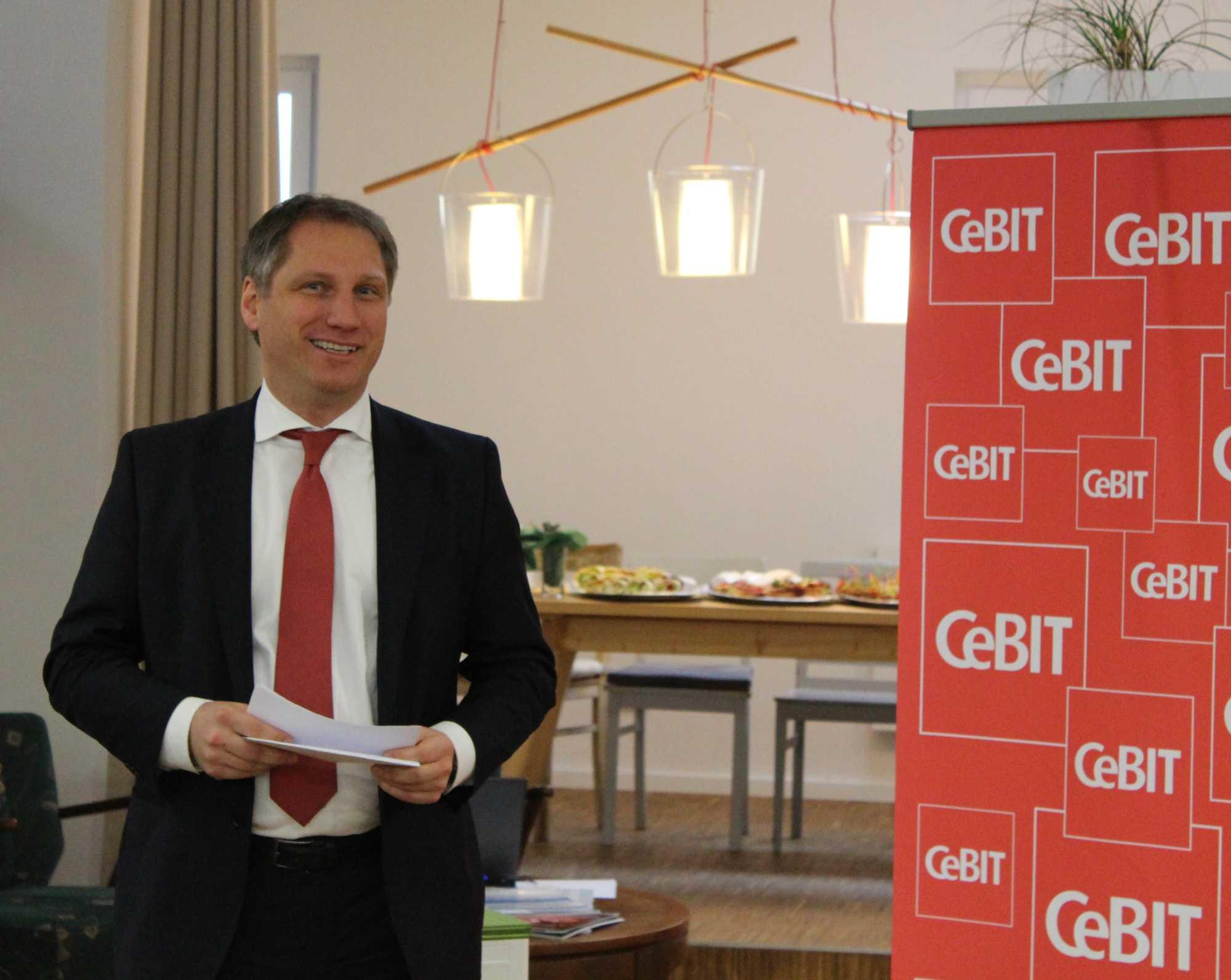 Frank Pörschmann, CeBIT-Vorstand bei der Deutschen Messe AG