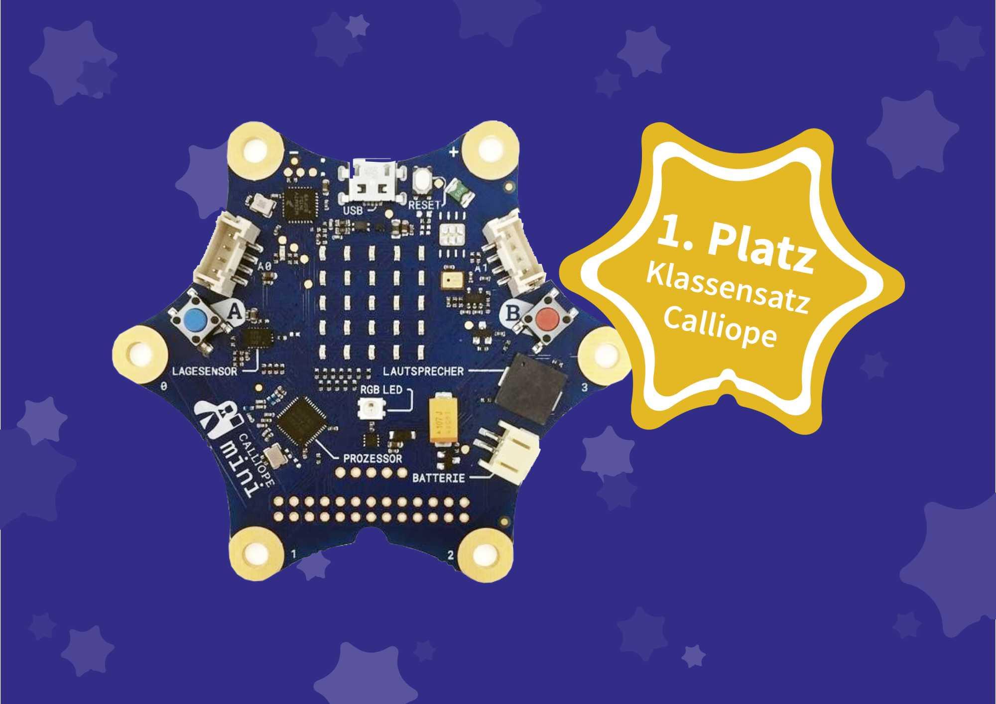 """Wettbewerb: """"Learning by Making"""" von Cornelsen Experimenta und dem Make Magazin: Calliope Mini - Mikrocontroller in Sternform"""