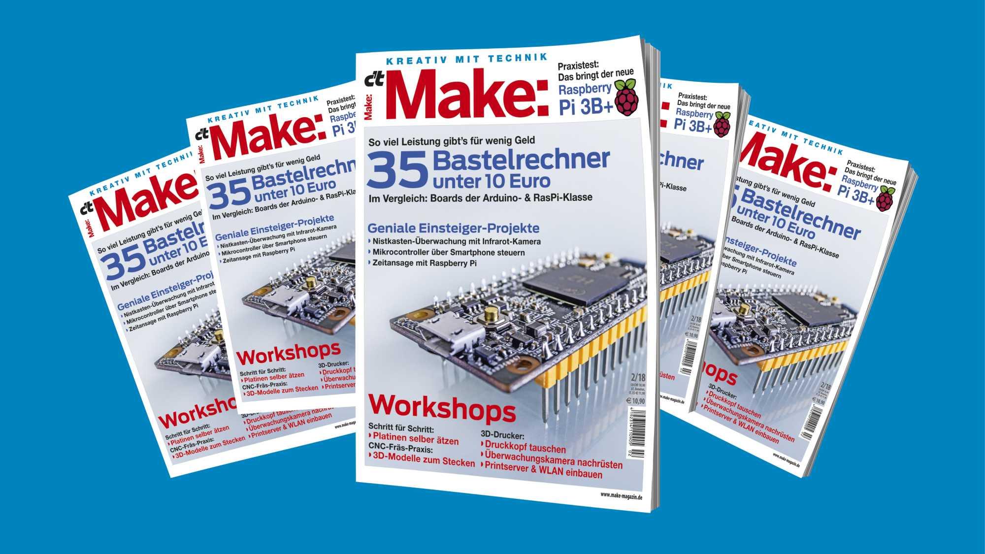 """Wettbewerb """"Learning by Making"""" von Cornelsen Experimenta und dem Make Magazin: Fünf Ausgaben der Make"""